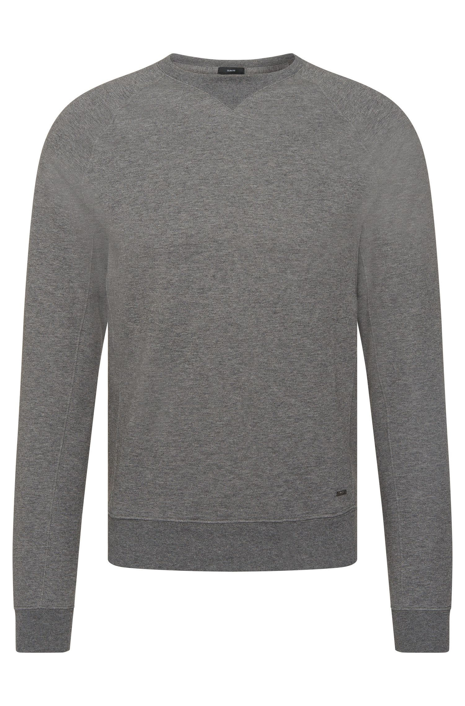 Sweat Slim Fit chiné en coton mélangé : « Skubic 13 »