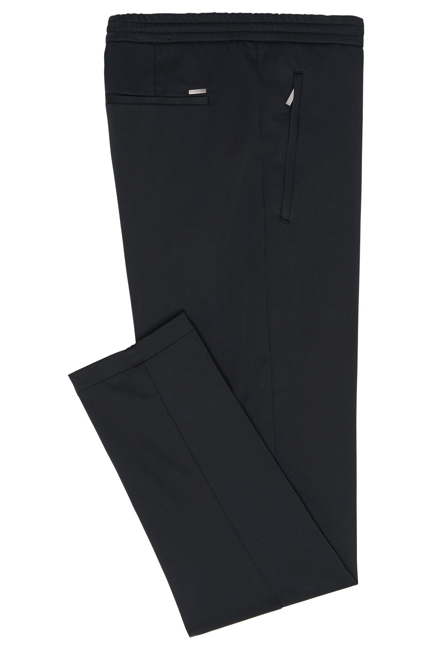 Pantalon Slim Fit en coton mélangé avec ceinture élastique: «Kito-Drawstring-W»