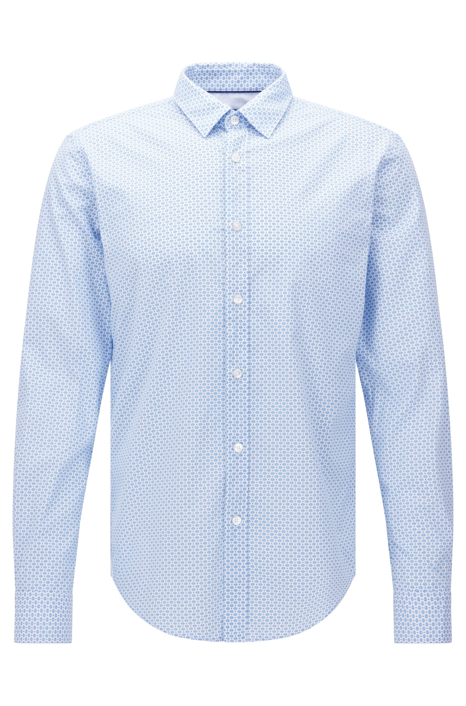 Patterned slim-fit shirt in cotton: 'Ronni_44'