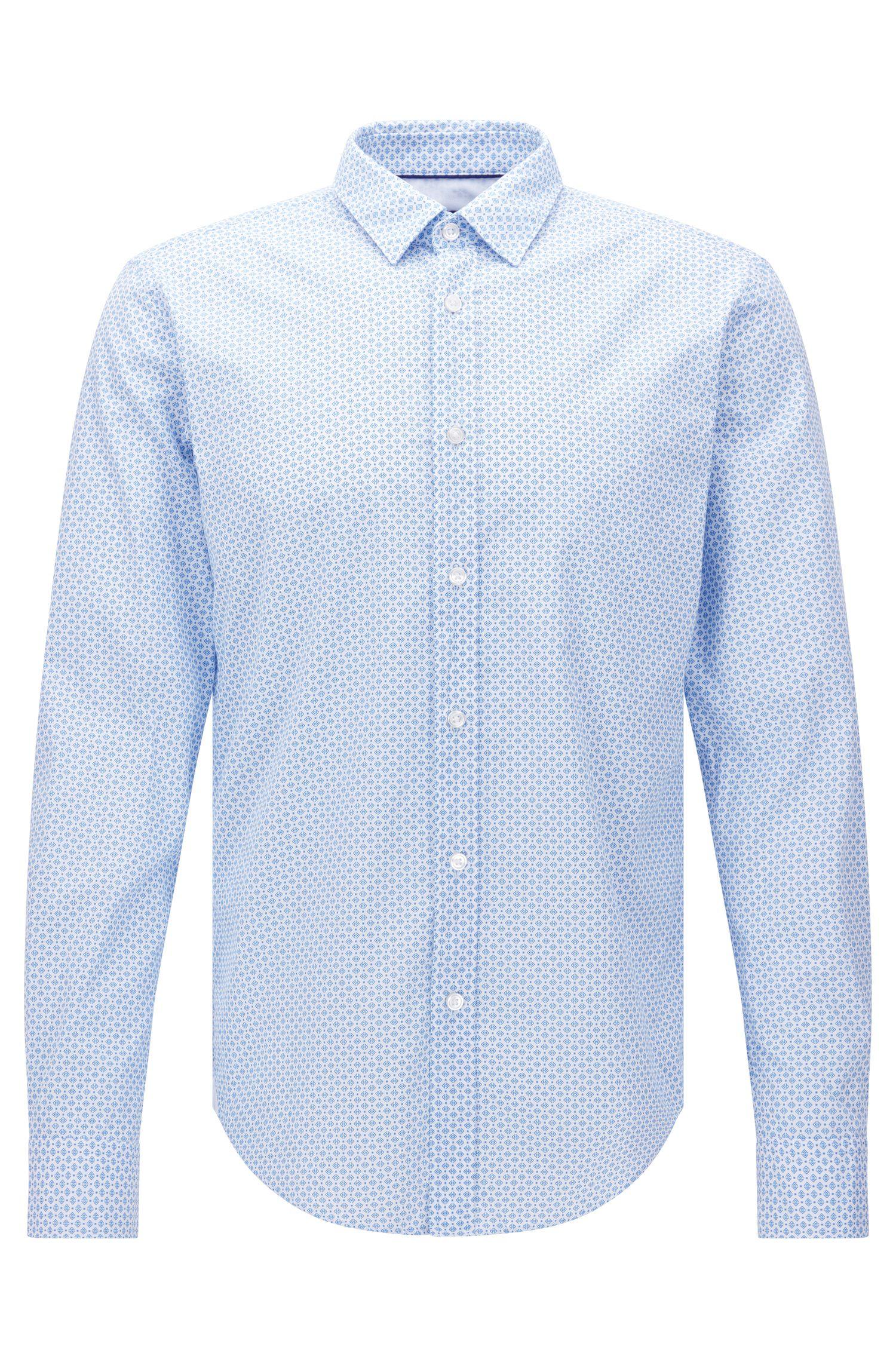 Slim-fit overhemd van katoen met dessin: 'Ronni_44'