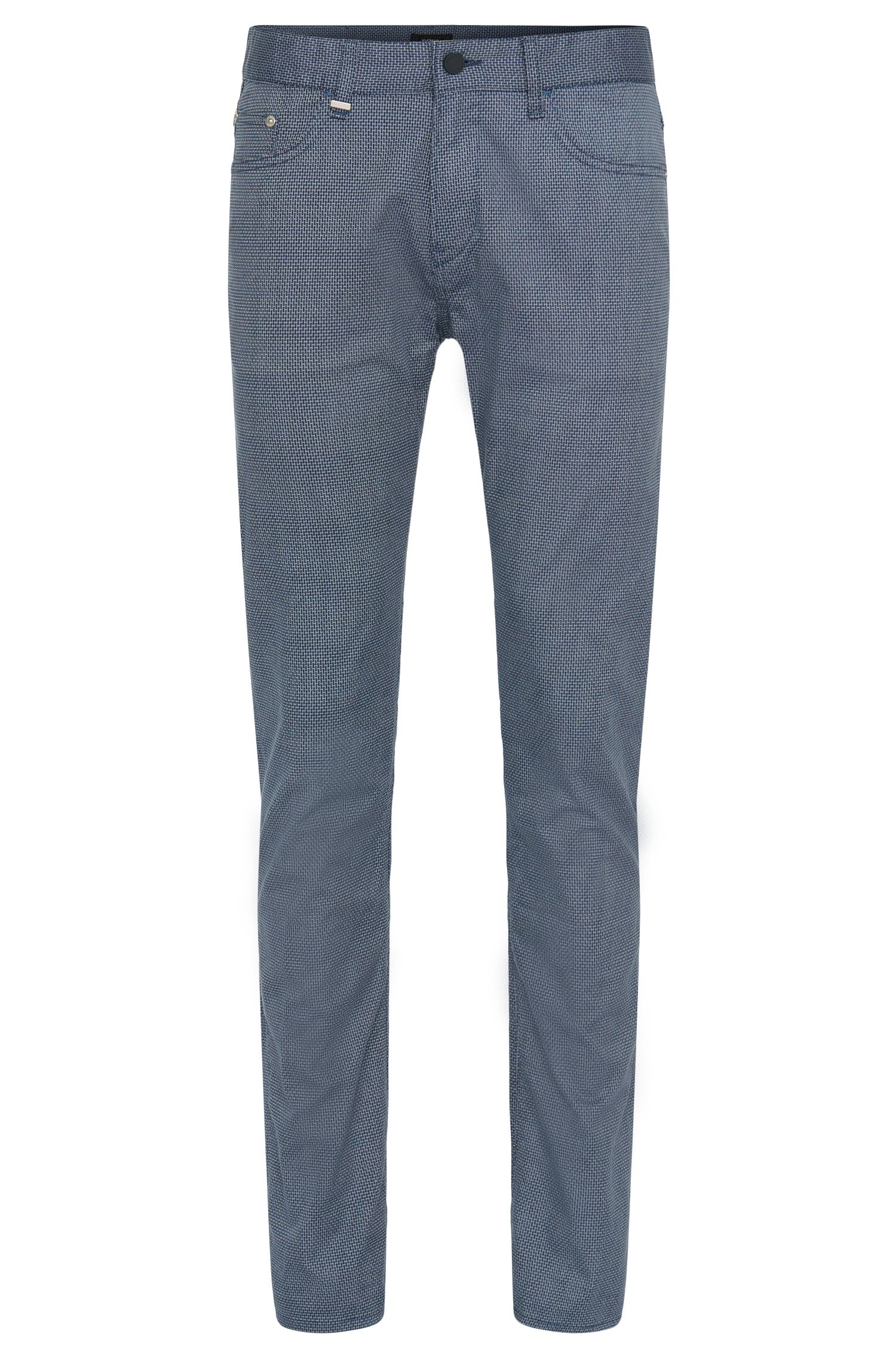 Slim-fit trousers with subtle pattern: 'Delaware3-2-20'