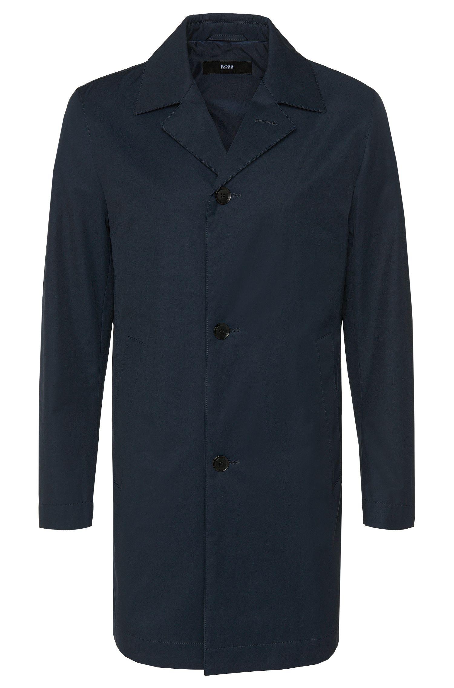 Slim-fit mantel van een waterafstotende katoenmix: 'Dais11'