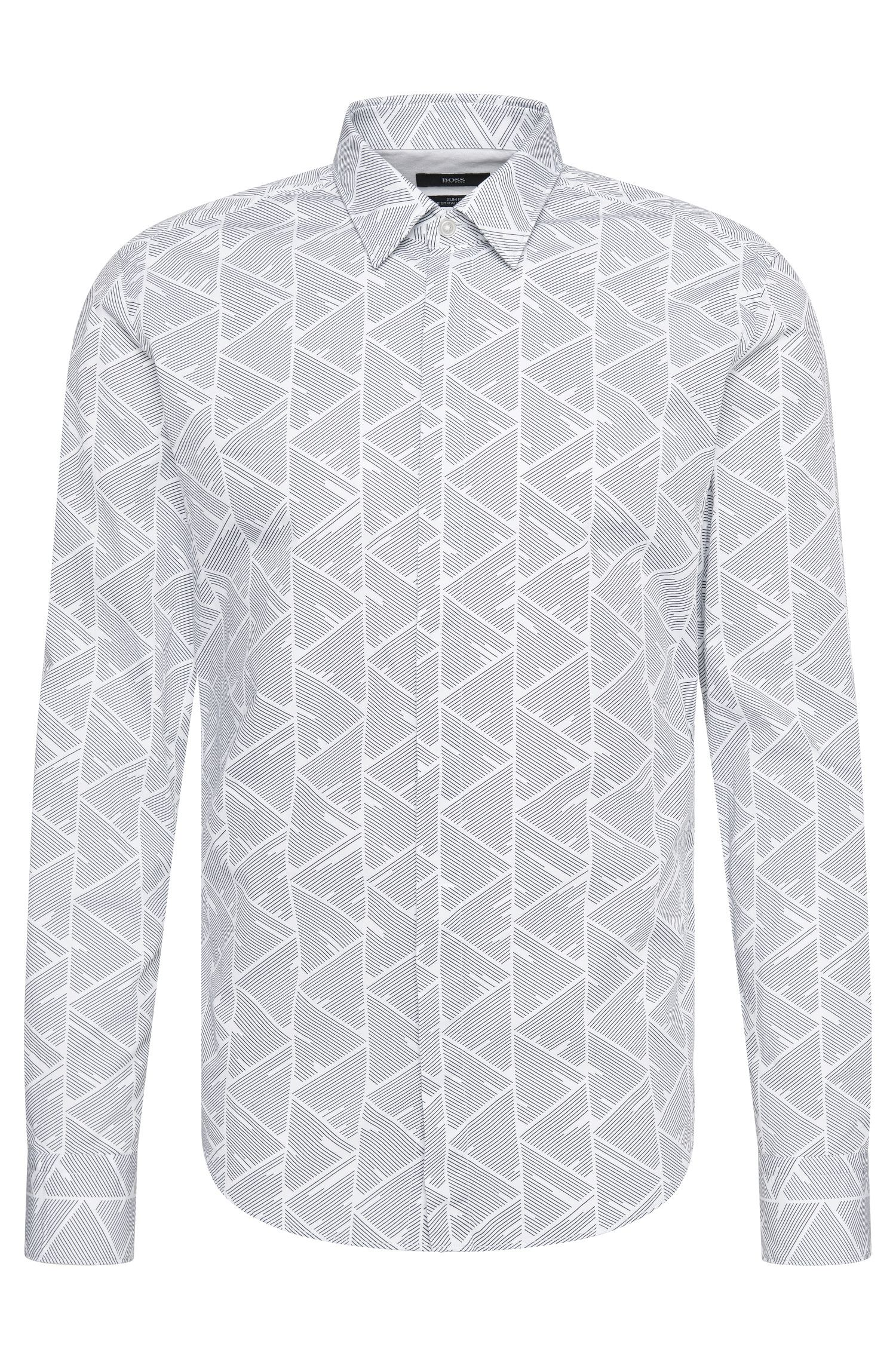 Patterned slim-fit shirt in cotton: 'Reid_44H'