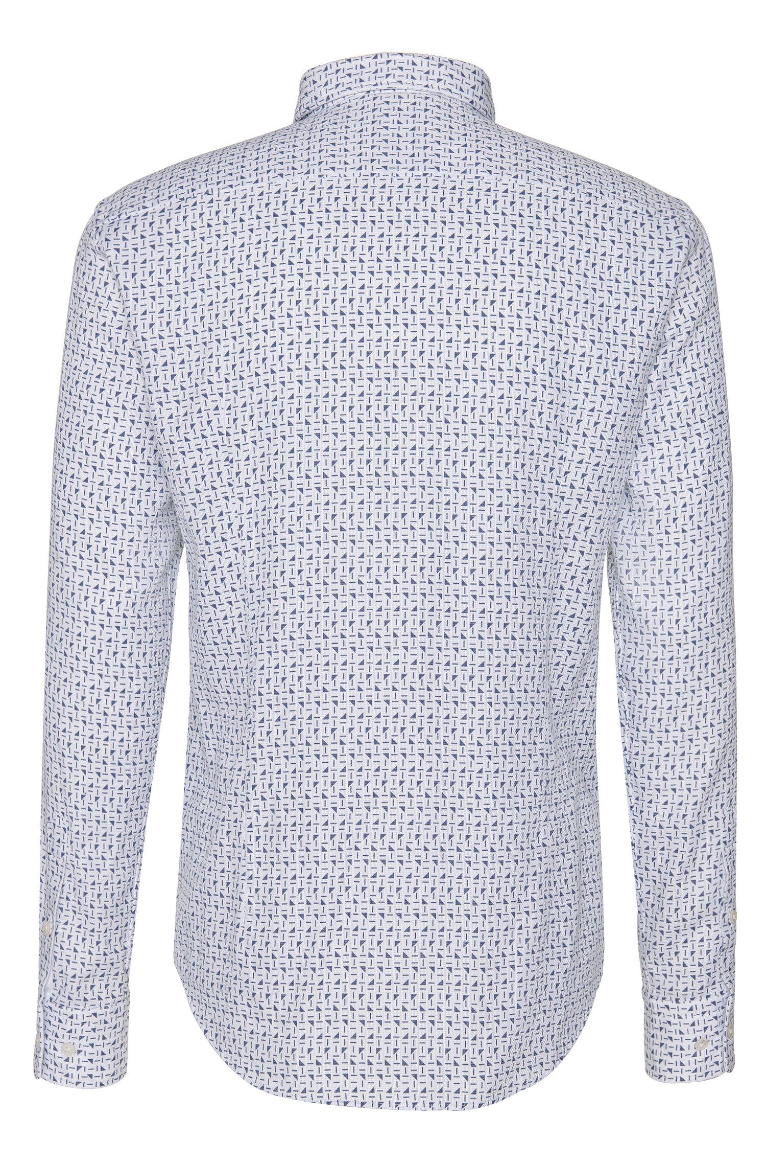 Chemise Slim Fit Tailored en coton à motif intégral: «T-Ricardo_32F»