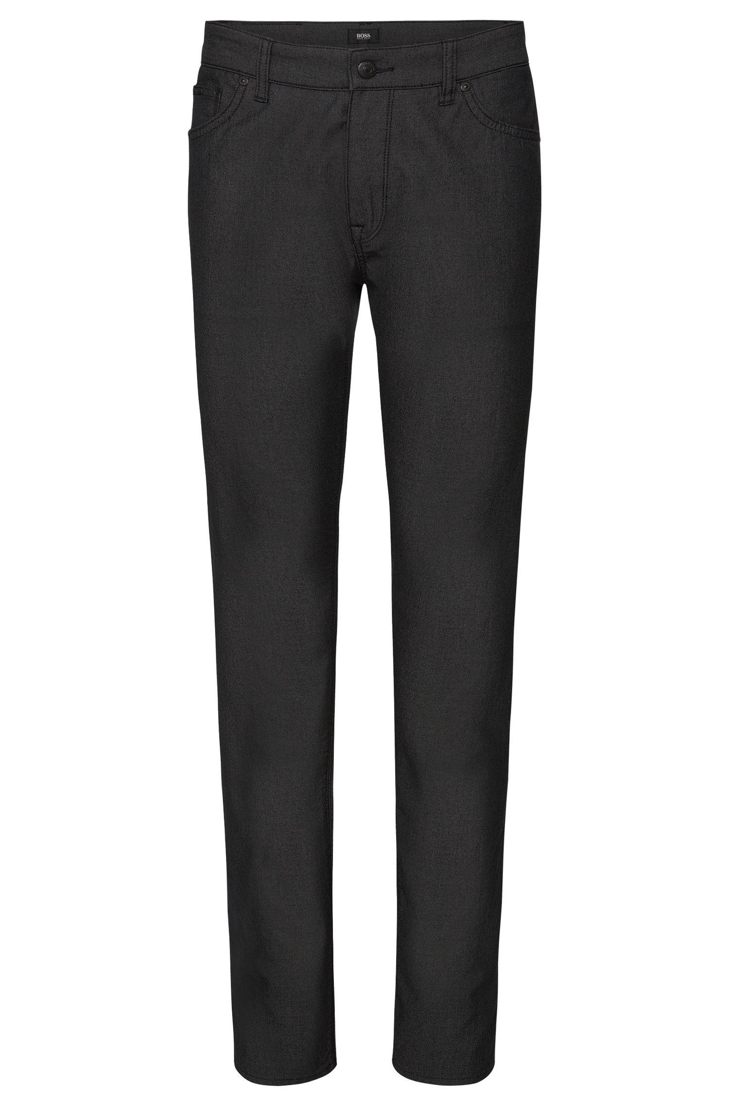 Regular-fit jeans van een elastische katoenmix met fijn dessin: 'Maine3-20'