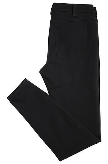 Schmale Hose aus elastischem Viskose-Mix im Five-Pocket-Stil: ´Sobina`, Schwarz