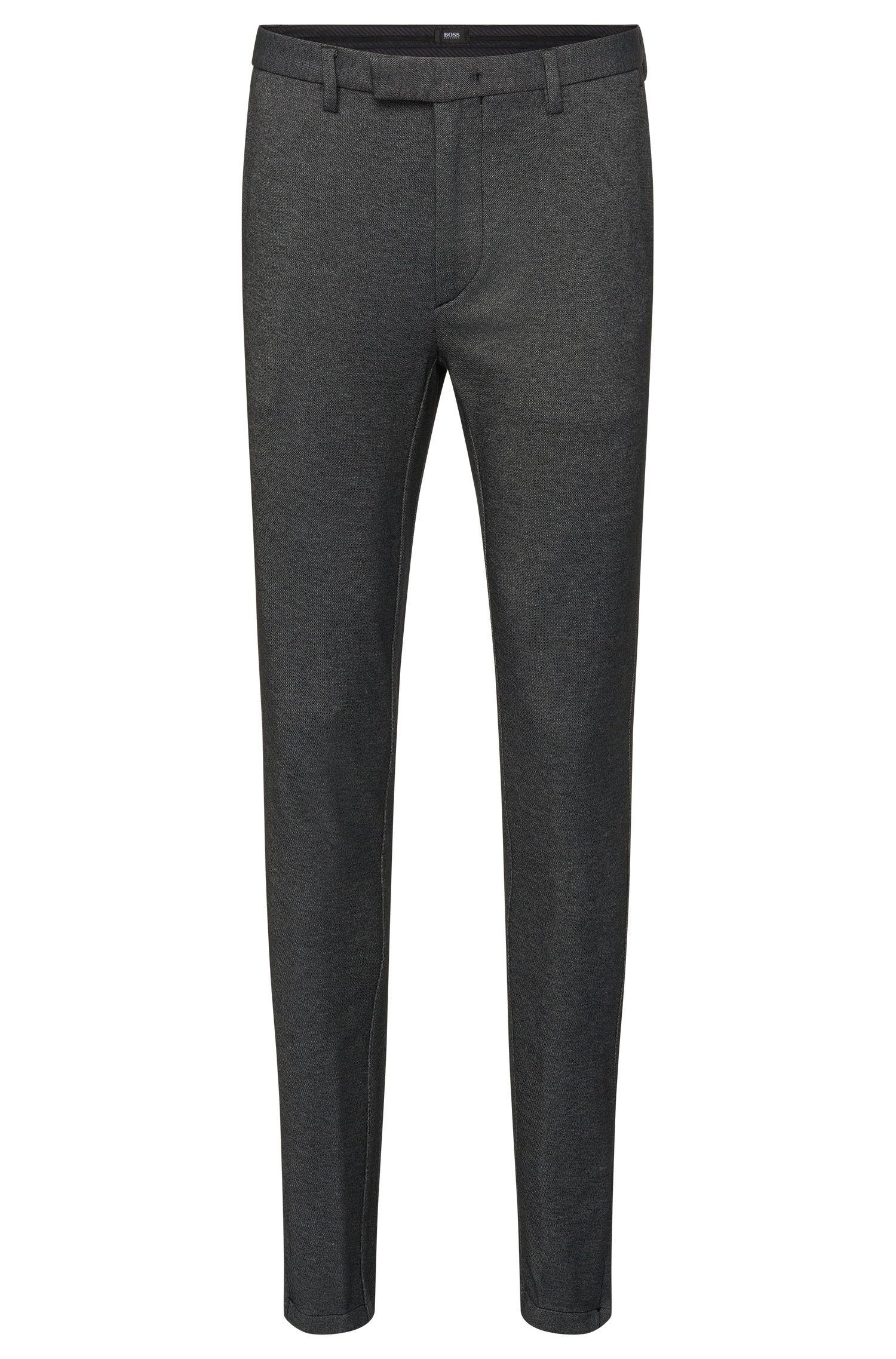 Pantalon Slim Fit chiné en coton mélangé, rehaussé de détails zippés: «Kaito3-6-W»