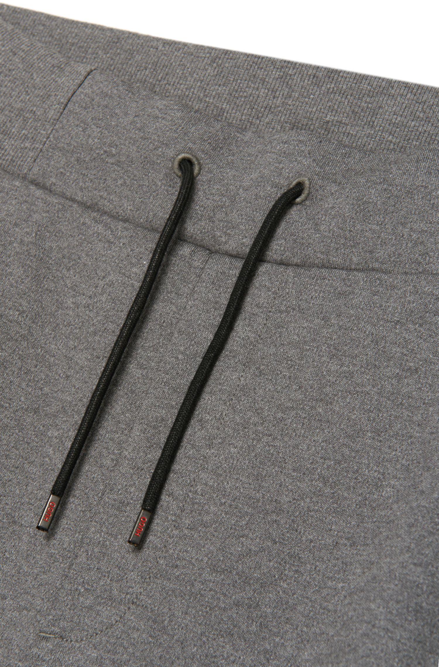 Pantalon sweat Regular Fit en coton orné de détails à effet cuir: «Drontier»
