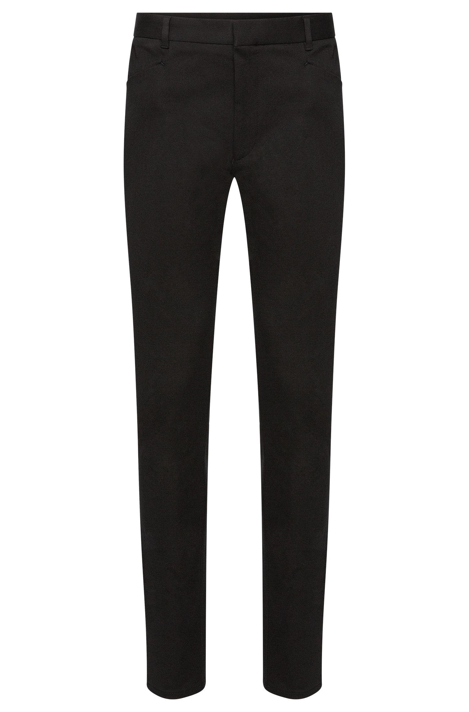 Pantalon Extra Slim Fit en coton extensible: «Henyo»
