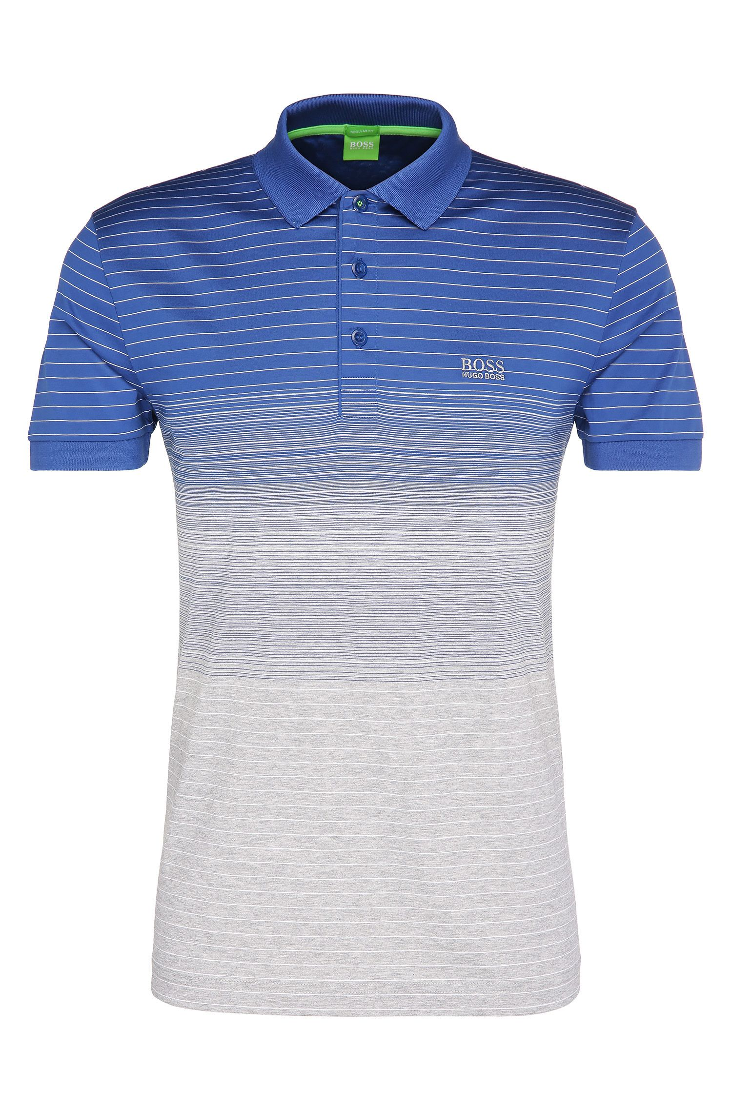 Regular-fit polo shirt in fade-out-look cotton: 'Paddy 3'
