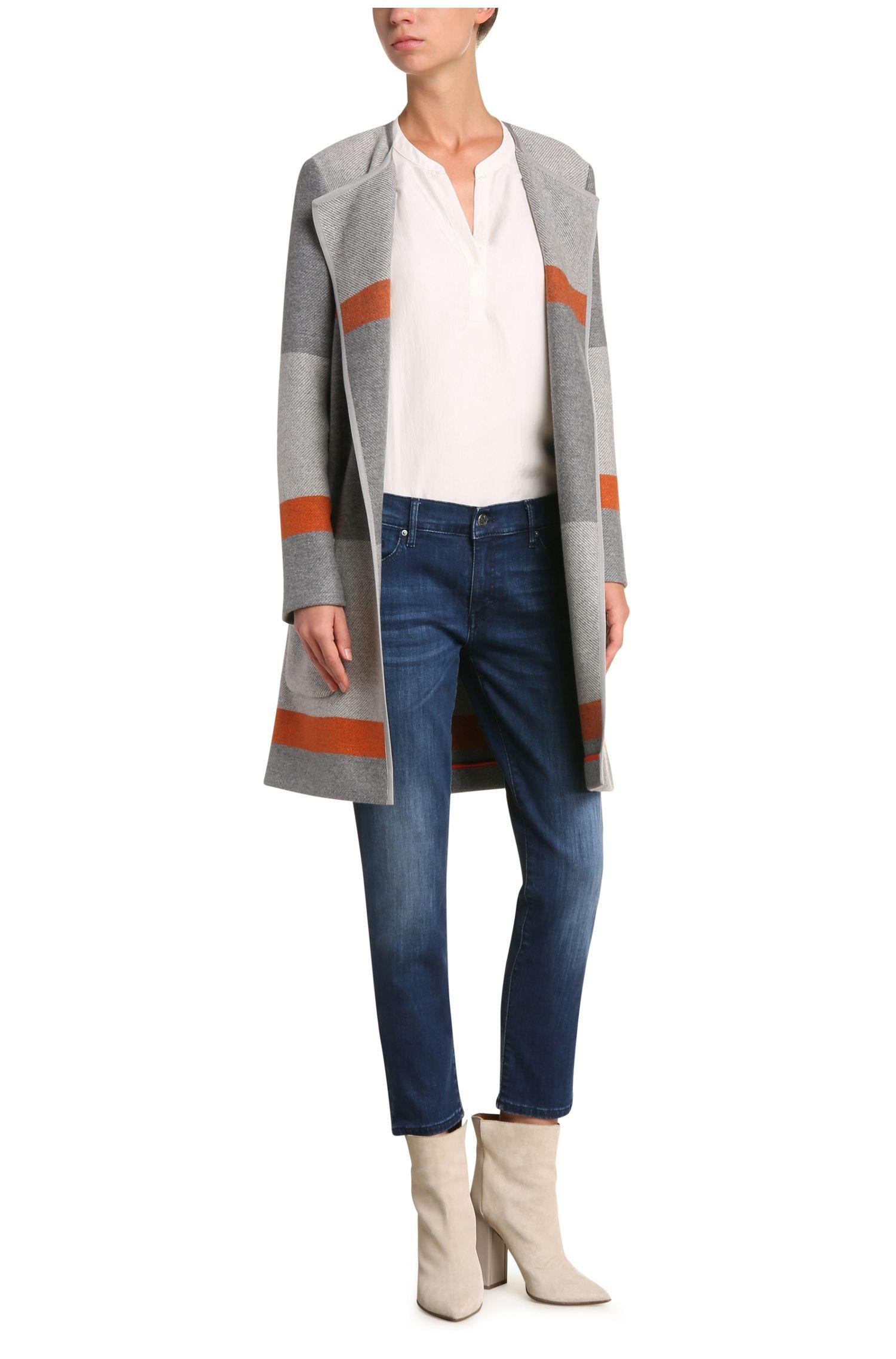 Tunika-Bluse aus reiner Seide im Lagen-Look: ´Ciroof1`