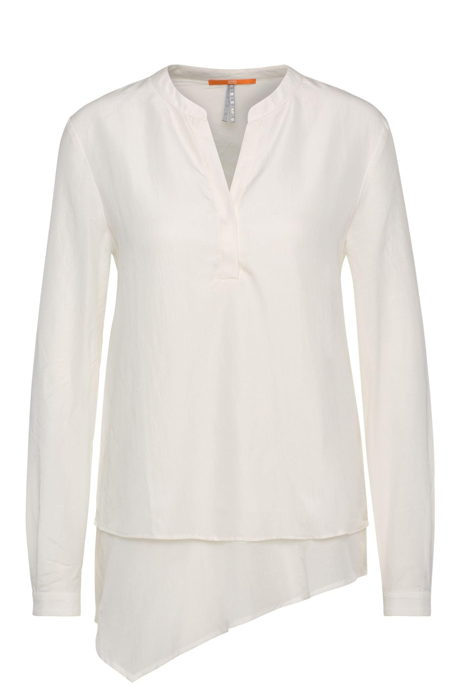 Blusa túnica en pura seda con look a capas: 'Ciroof1'
