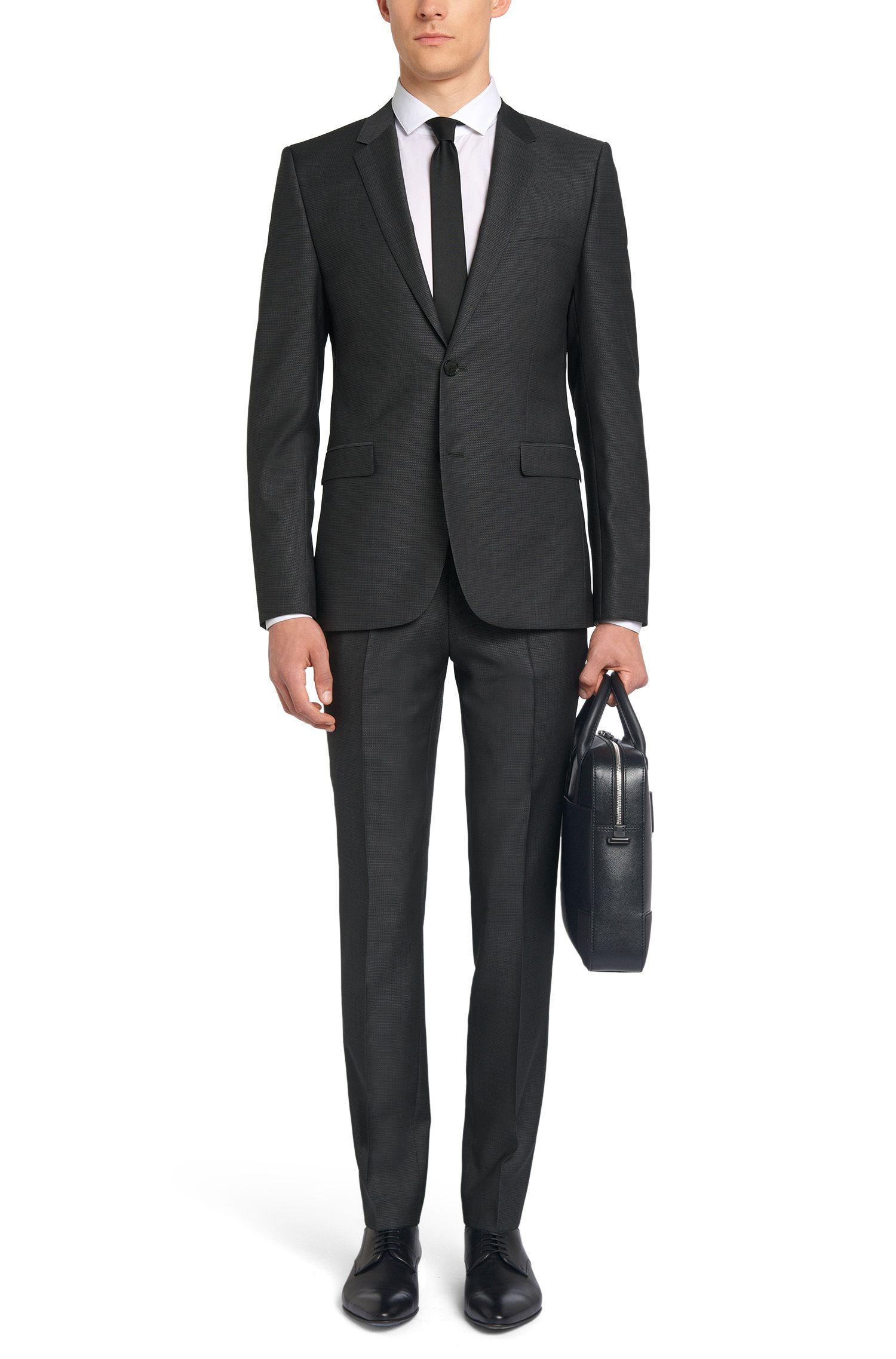 Fein strukturierter Slim-Fit Anzug aus Schurwolle: 'Astian/Hets'
