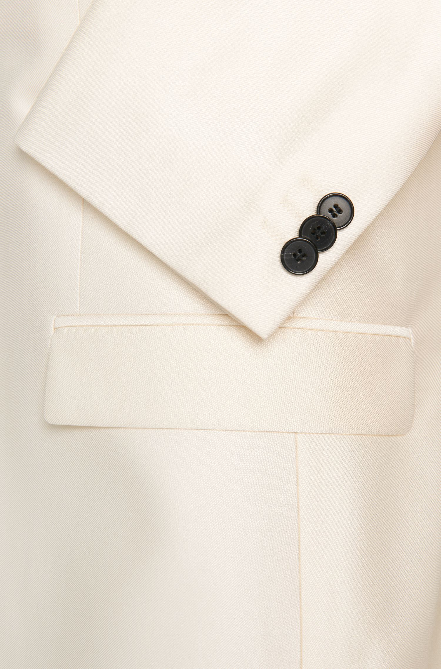 Unifarbener Slim-Fit Anzug aus Schurwoll-Mix: 'Arti/Heilon'