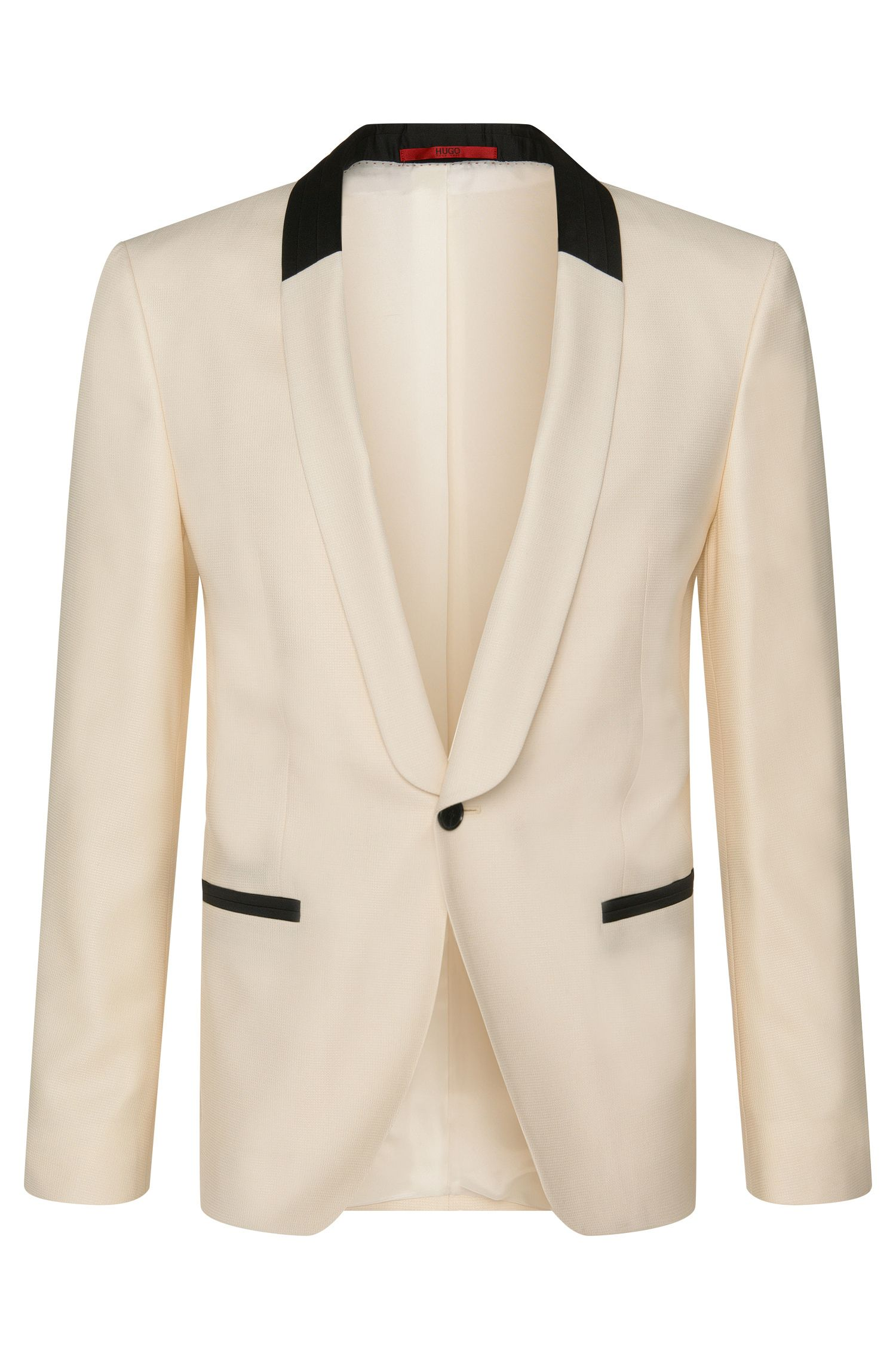 Slim-fit dinner jacket in new-wool blend with silk: 'Arian'
