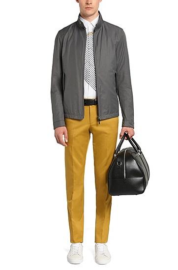 Slim-Fit Hemd aus Baumwolle mit Print: 'Reid_H', Weiß