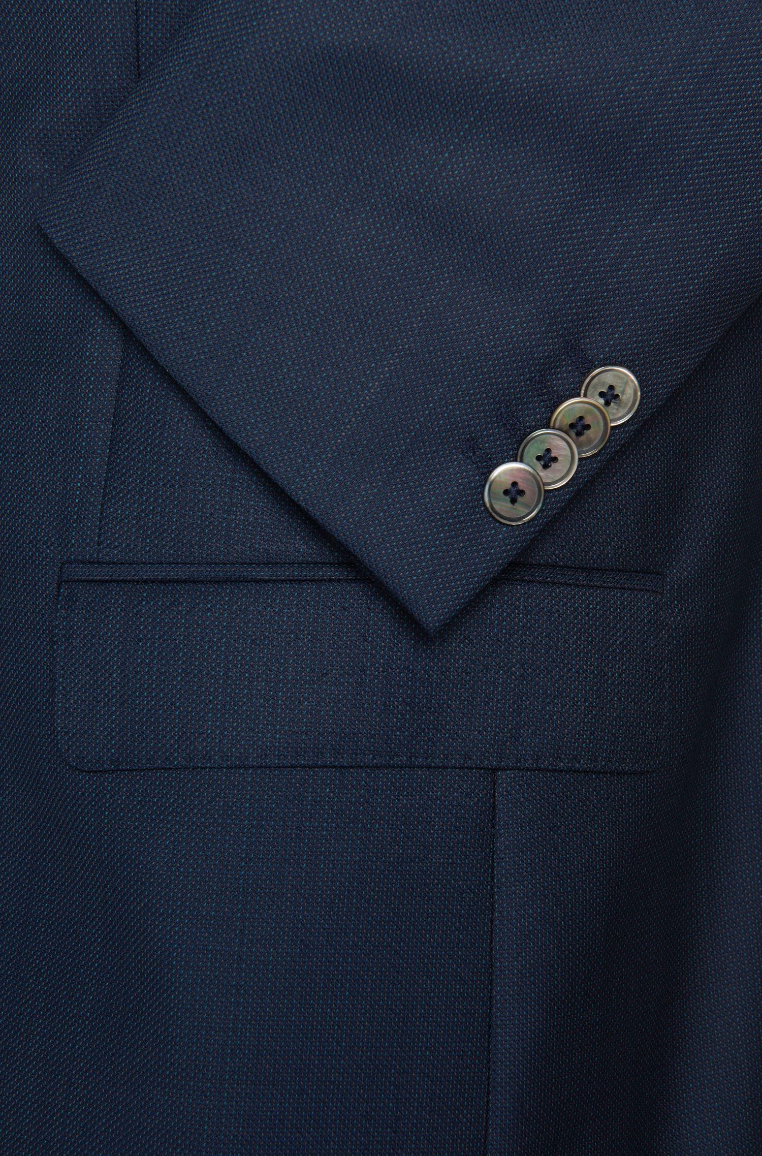 Costume Slim Fit en laine vierge finement structurée: «C-Hutson1/C-Gander»