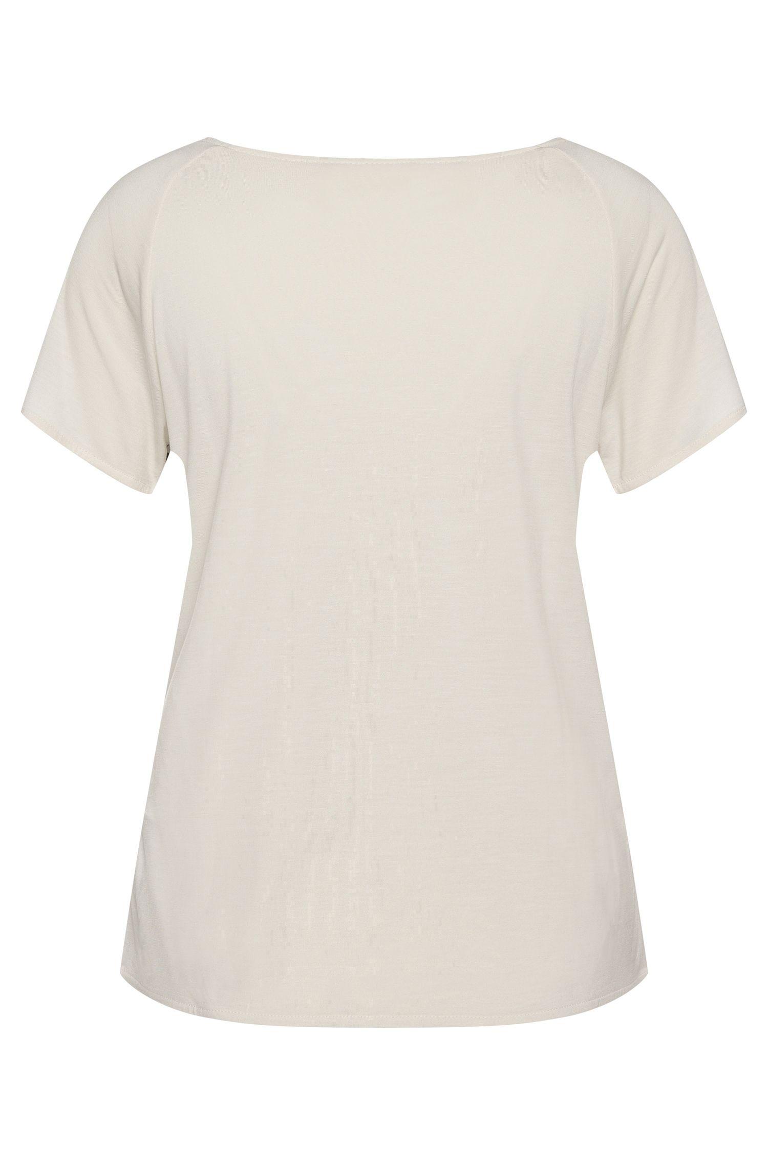 T-shirt en viscose avec devant imprimé: «Dafona»