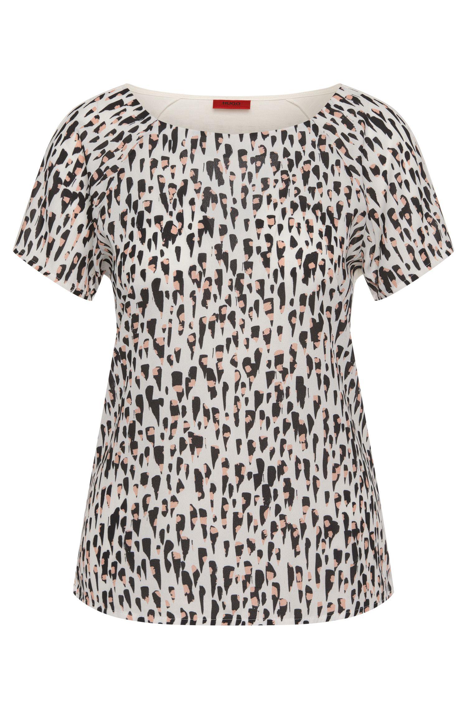 T-Shirt aus Viskose mit bedruckter Vorderseite: 'Dafona'