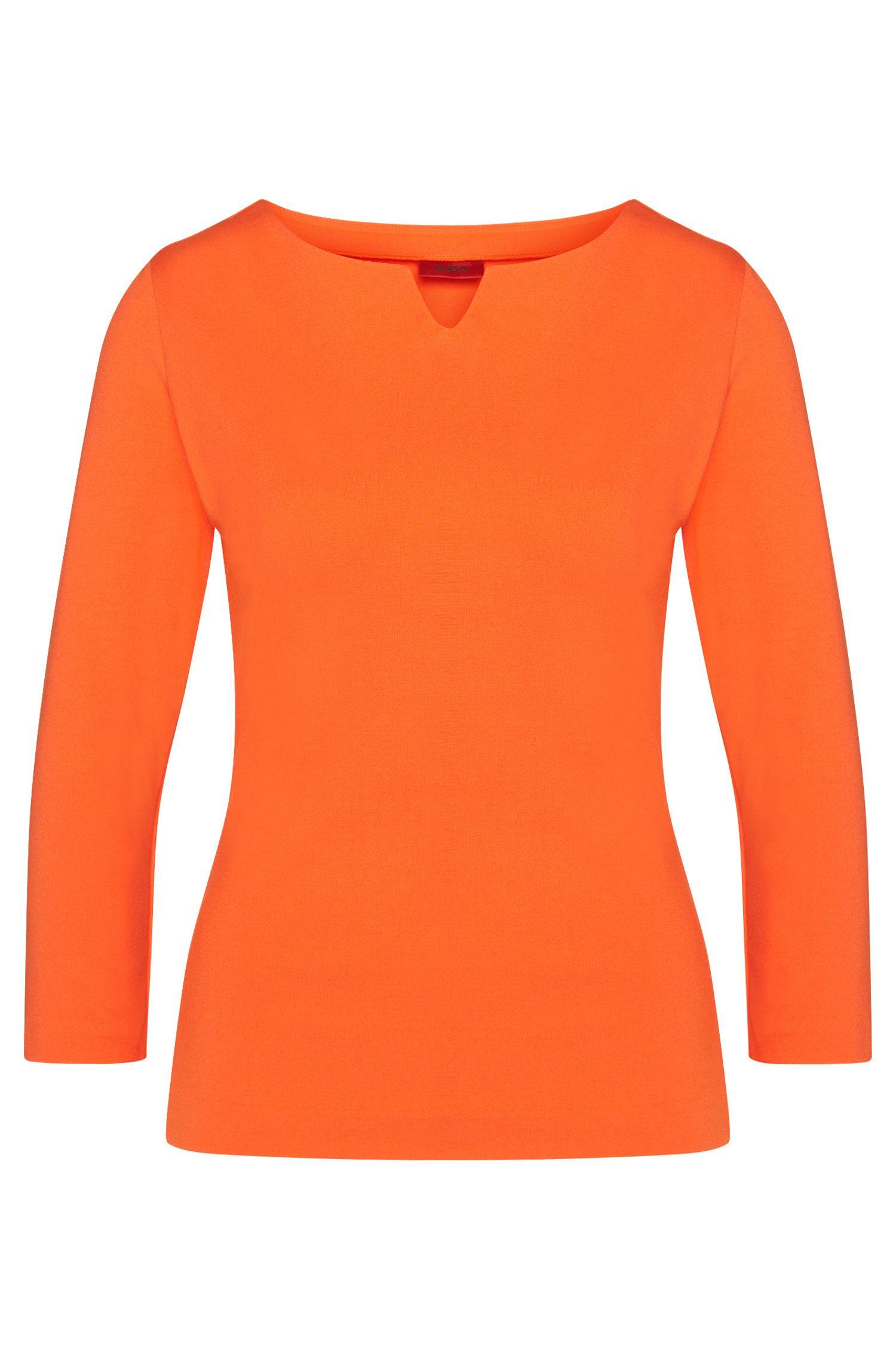 T-shirt uni en viscose mélangée extensible: «Dolana»