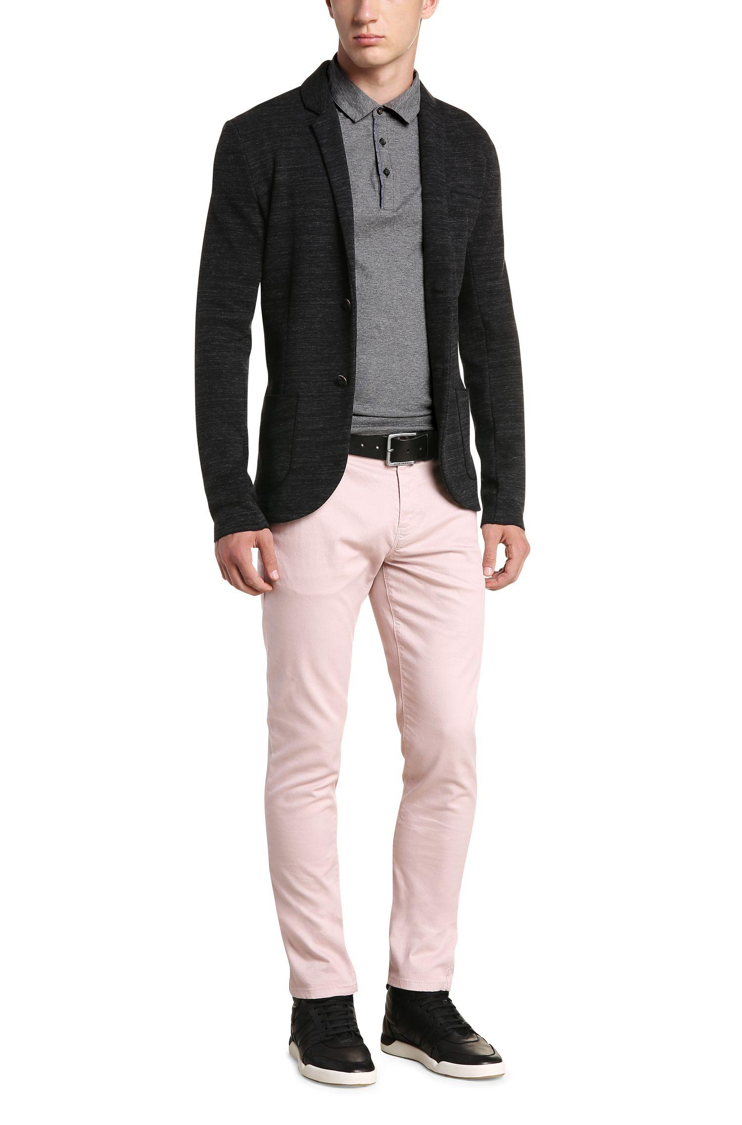 Slim-Fit Polo aus Baumwolle mit Kontrast-Details: ´Patcherman 1`