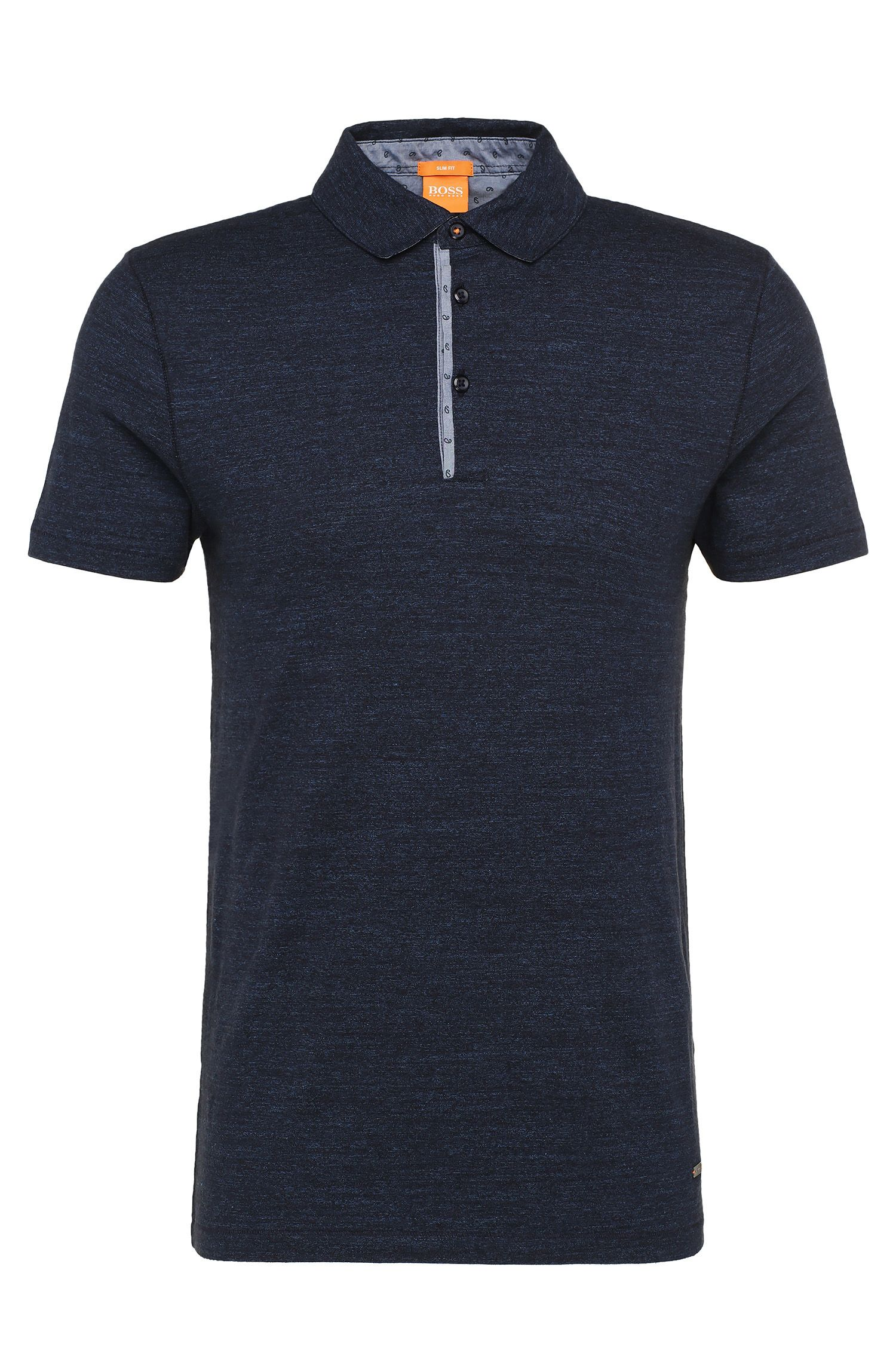 Slim-fit polo shirt in cotton with contrasting details: 'Patcherman 1'