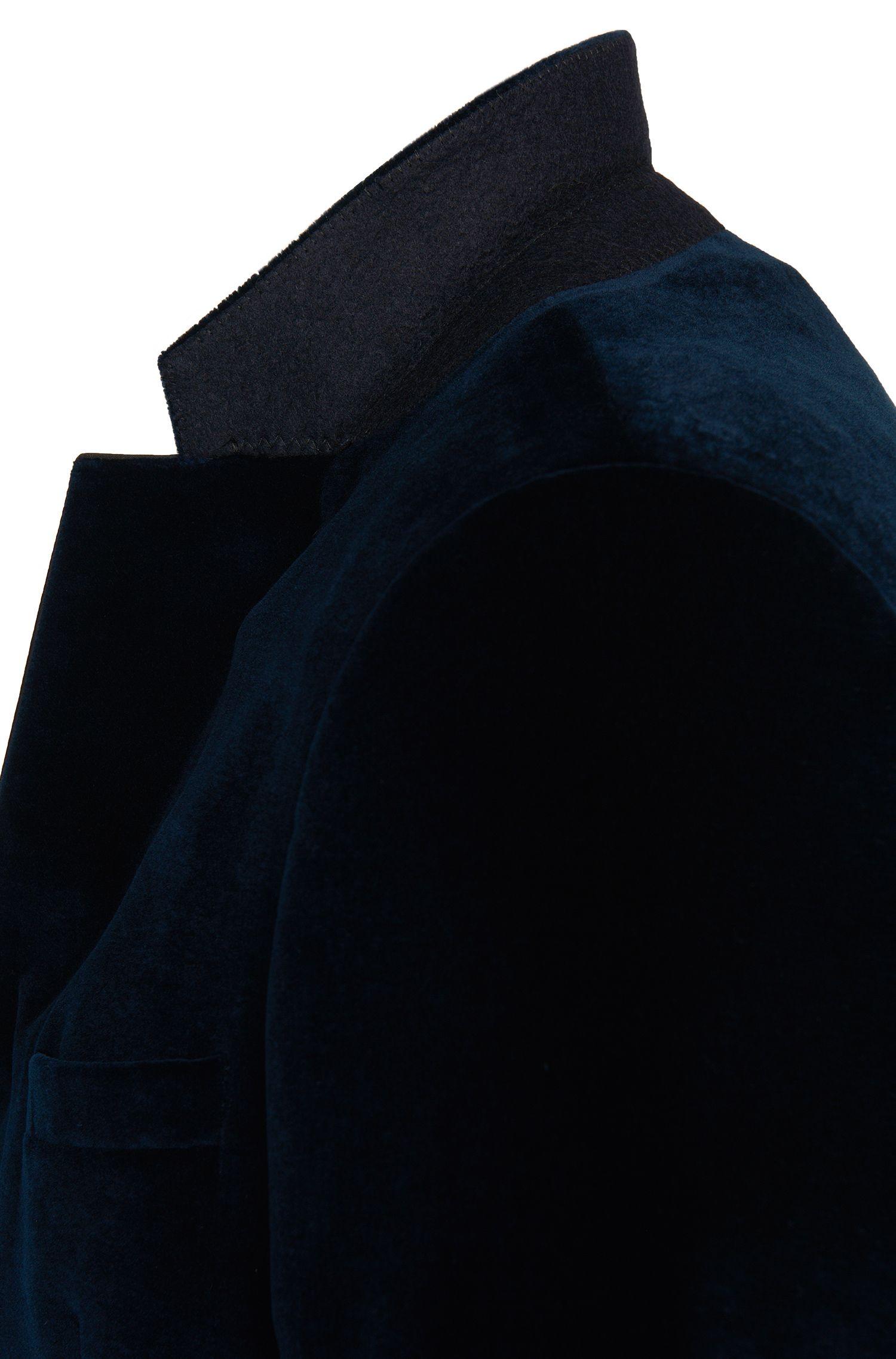 Slim-Fit Sakko aus Baumwolle in Samt-Optik: 'C-Harmyn1'