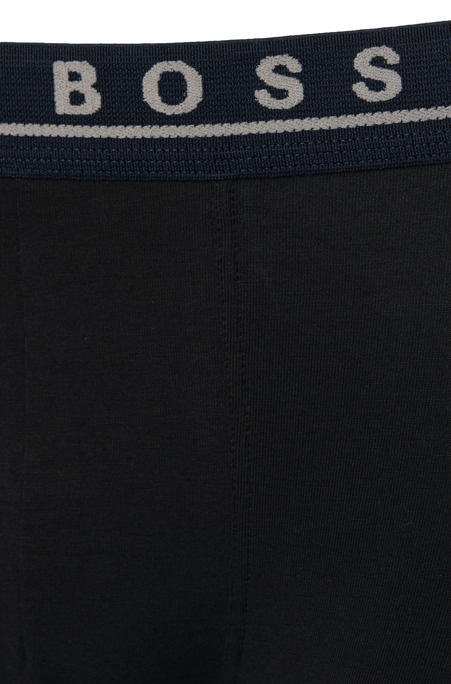 Unifarbene Boxershorts aus Stretch-Baumwolle im Dreier-Pack: 'Trunk 3P CO/EL'