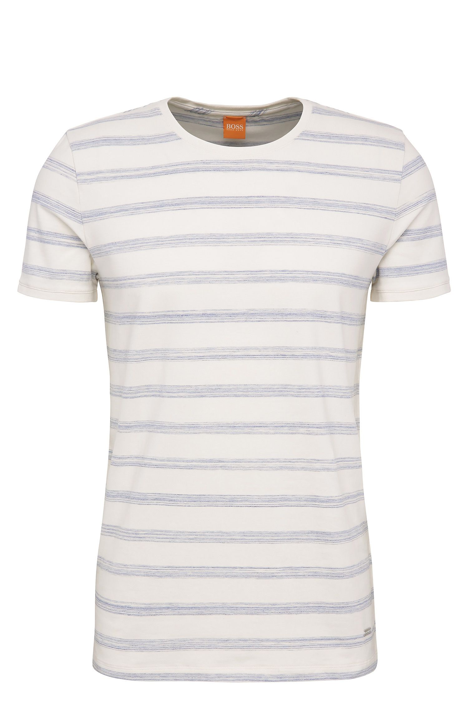 T-shirt Relaxed-Fit en coton extensible, à motif rayé : « Tex »