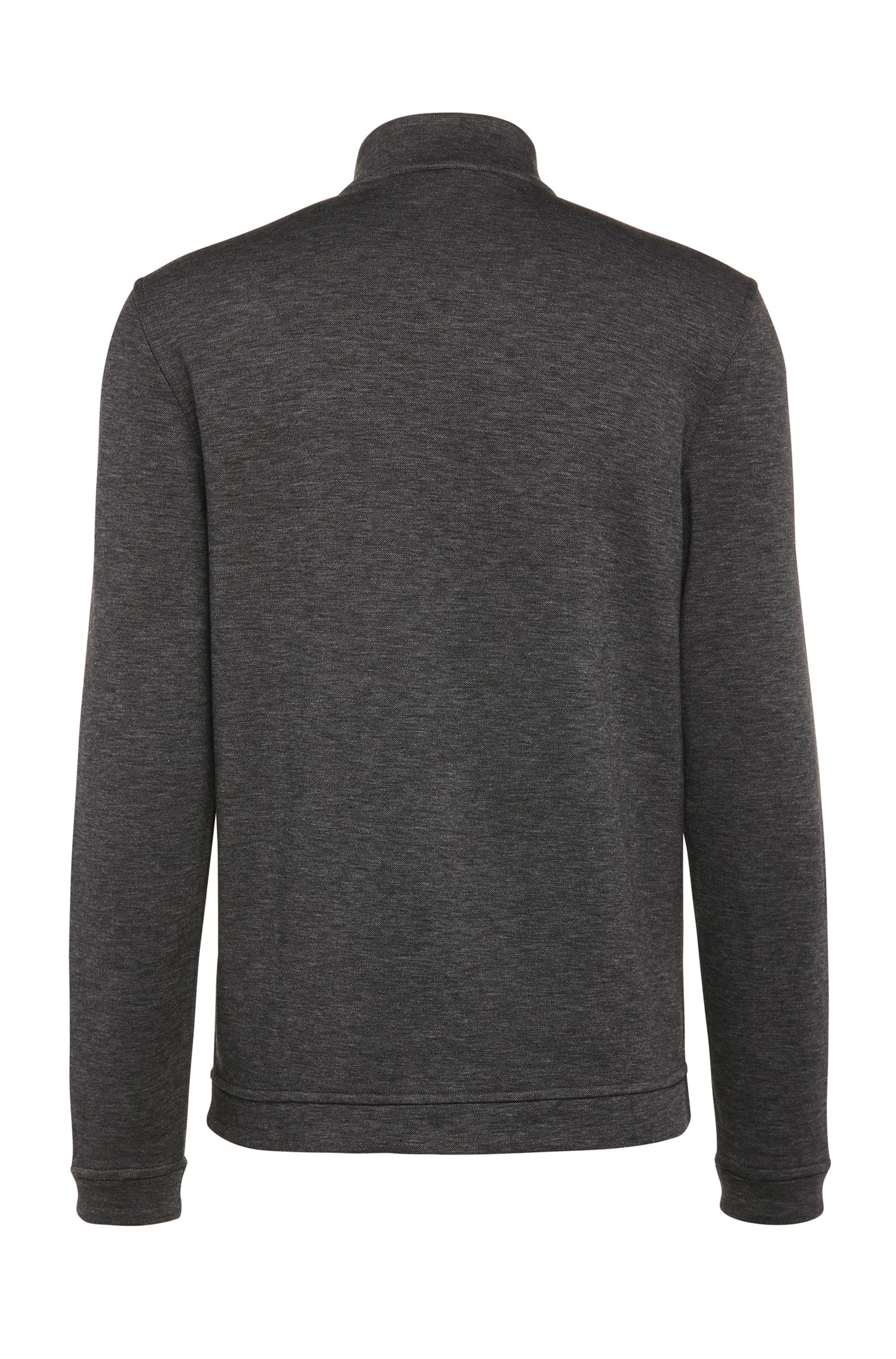 Blouson sweat Regular Fit en coton mélangé chiné : « C-Fossa »