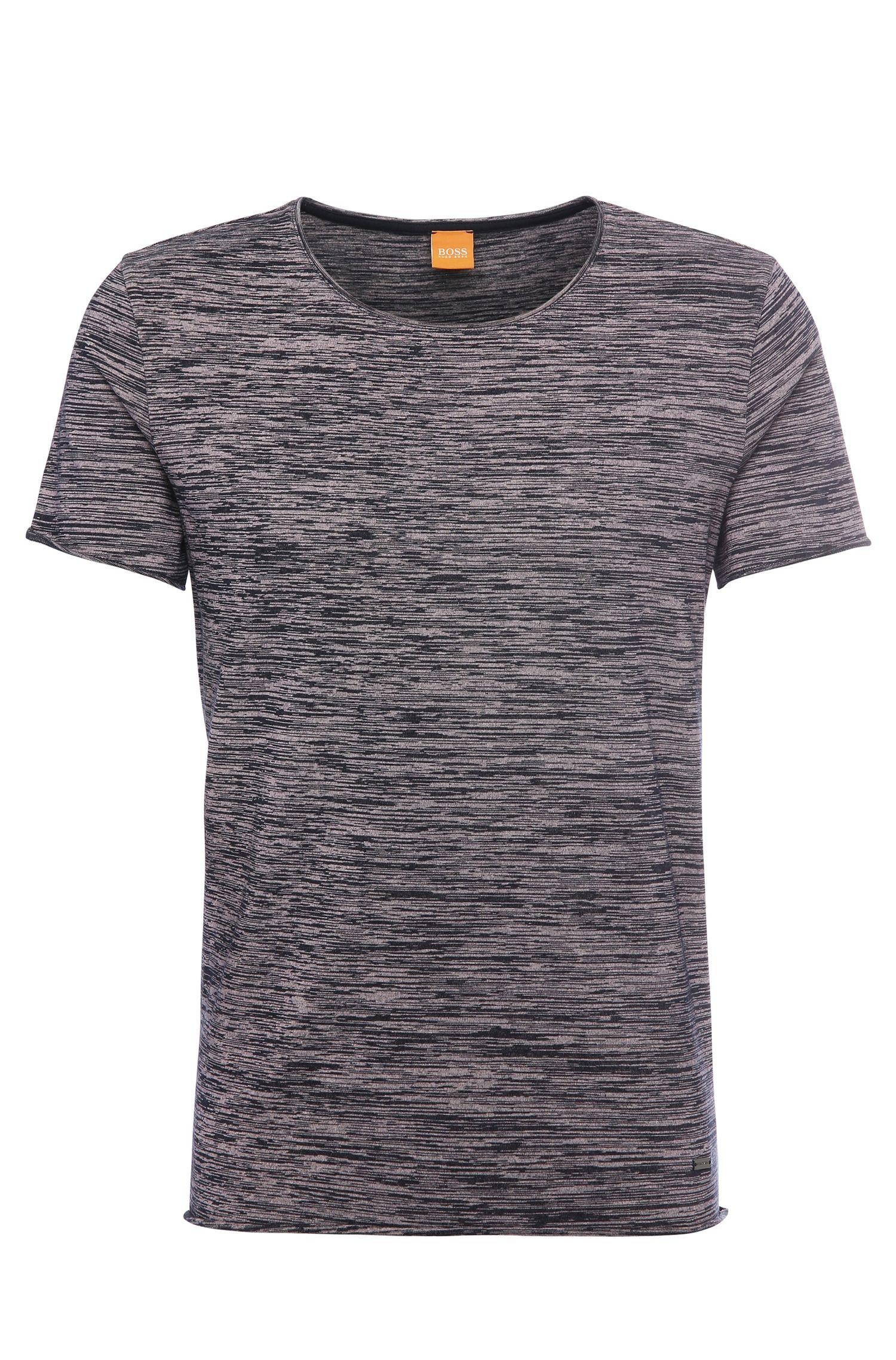 Relaxed-Fit Baumwollshirt mit Streifen-Textur: ´Thoran`