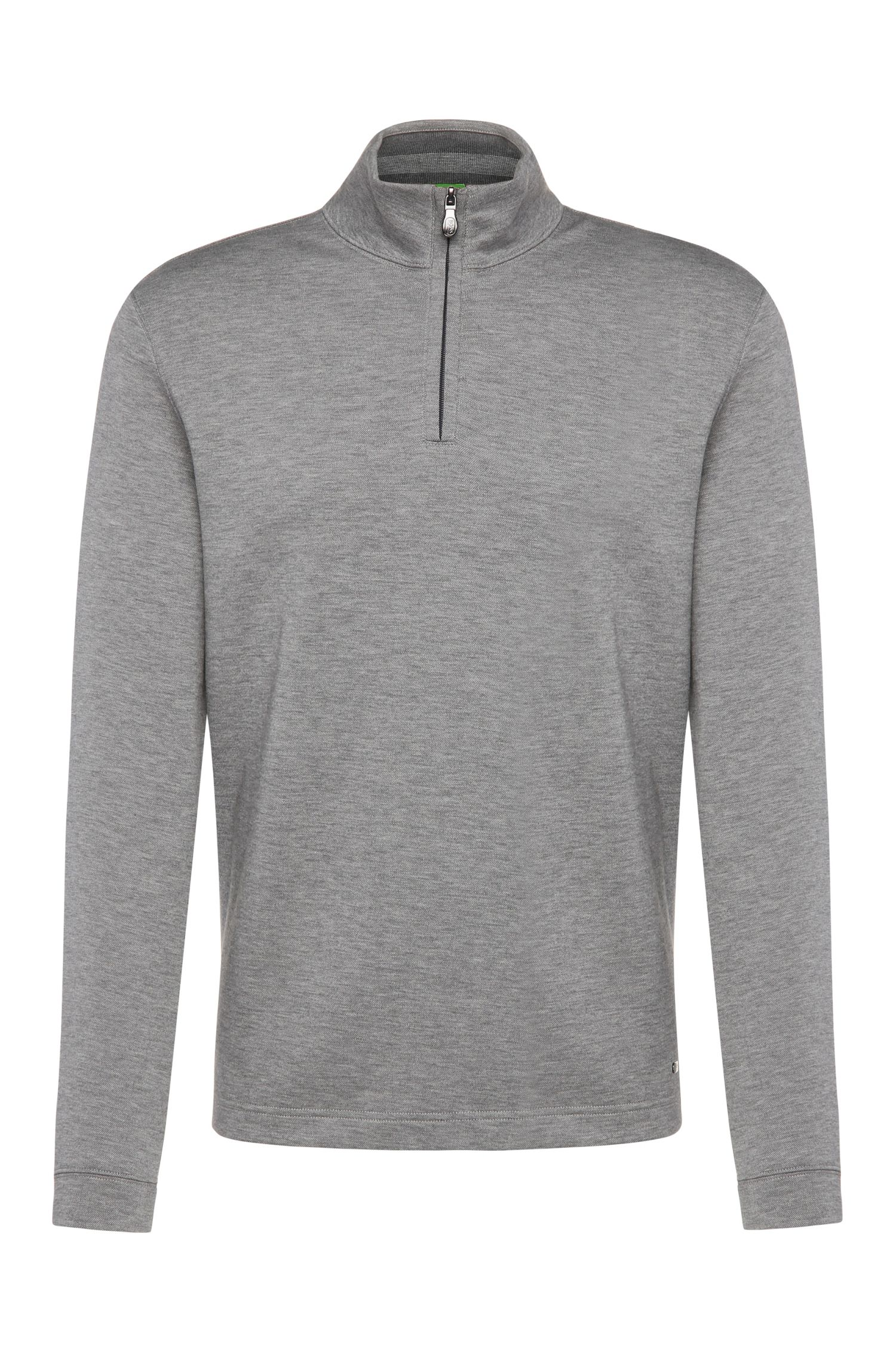 Regular-fit sweatshirt van een katoenmix: 'C-Piceno'
