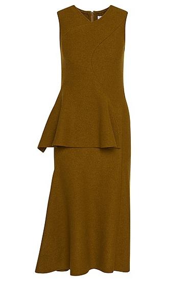 Runway Edition Kleid aus Wolle mit Schößchen-Detail: 'FS Dipira', Hellgrün