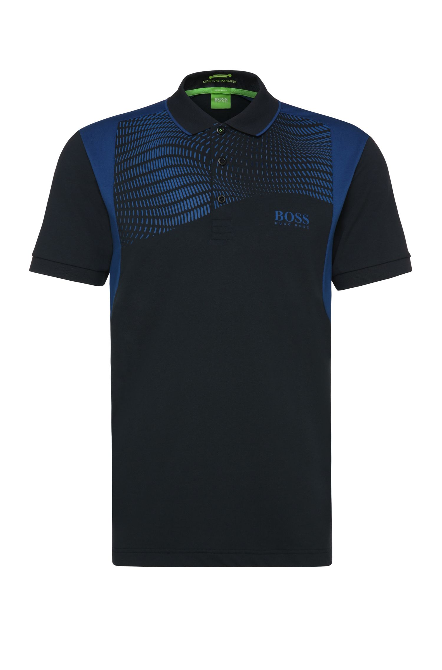 Polo Regular Fit en coton mélangé extensible : « Paddy Pro 1 »