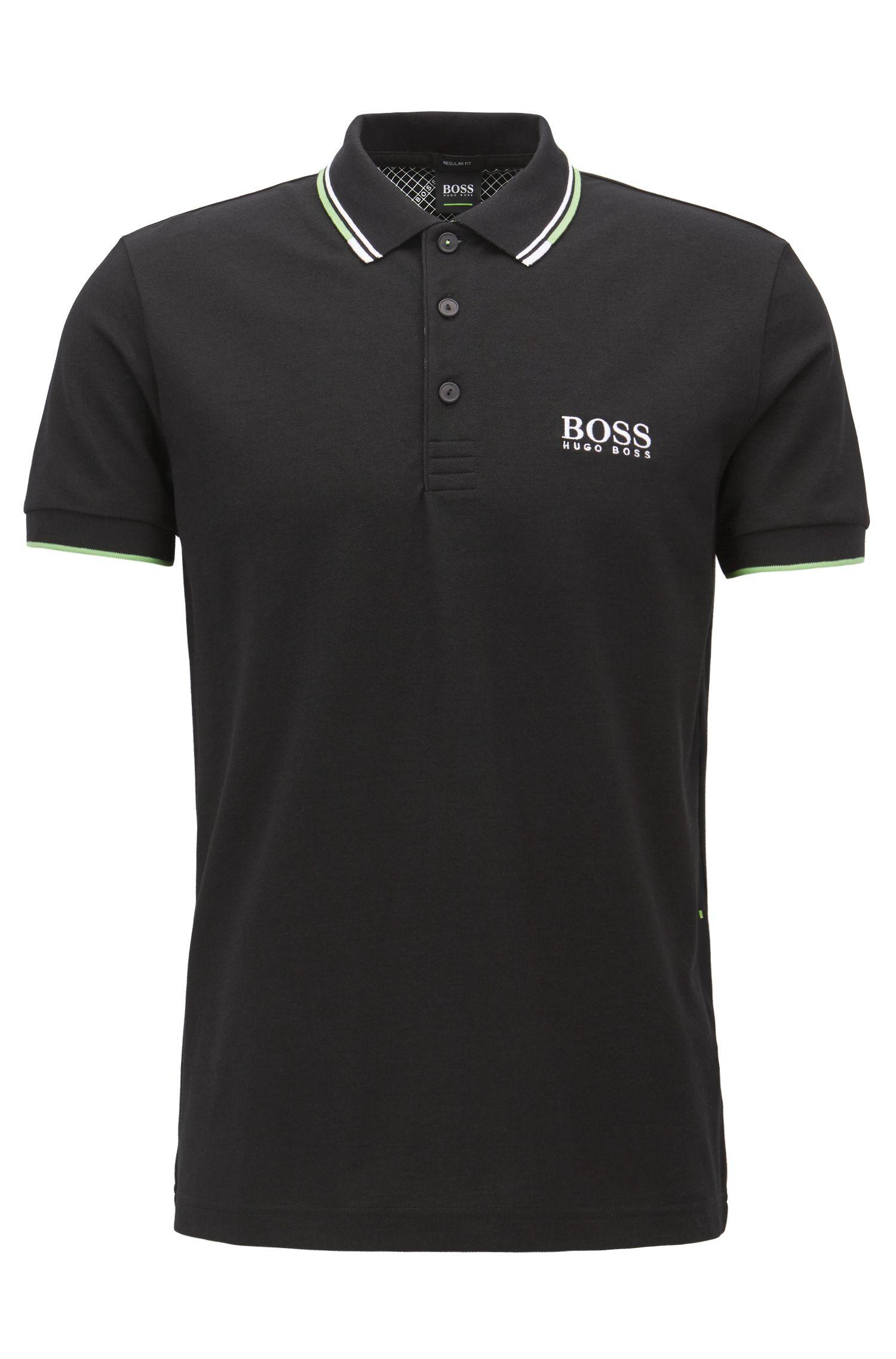 Polo BOSS Green Regular Fit en piqué doté de la technologie quick-dry