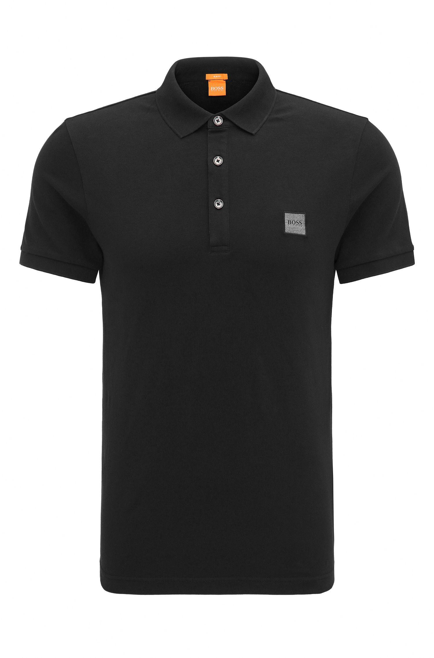 Slim-fit polo shirt in stretch cotton: 'Pavlik'