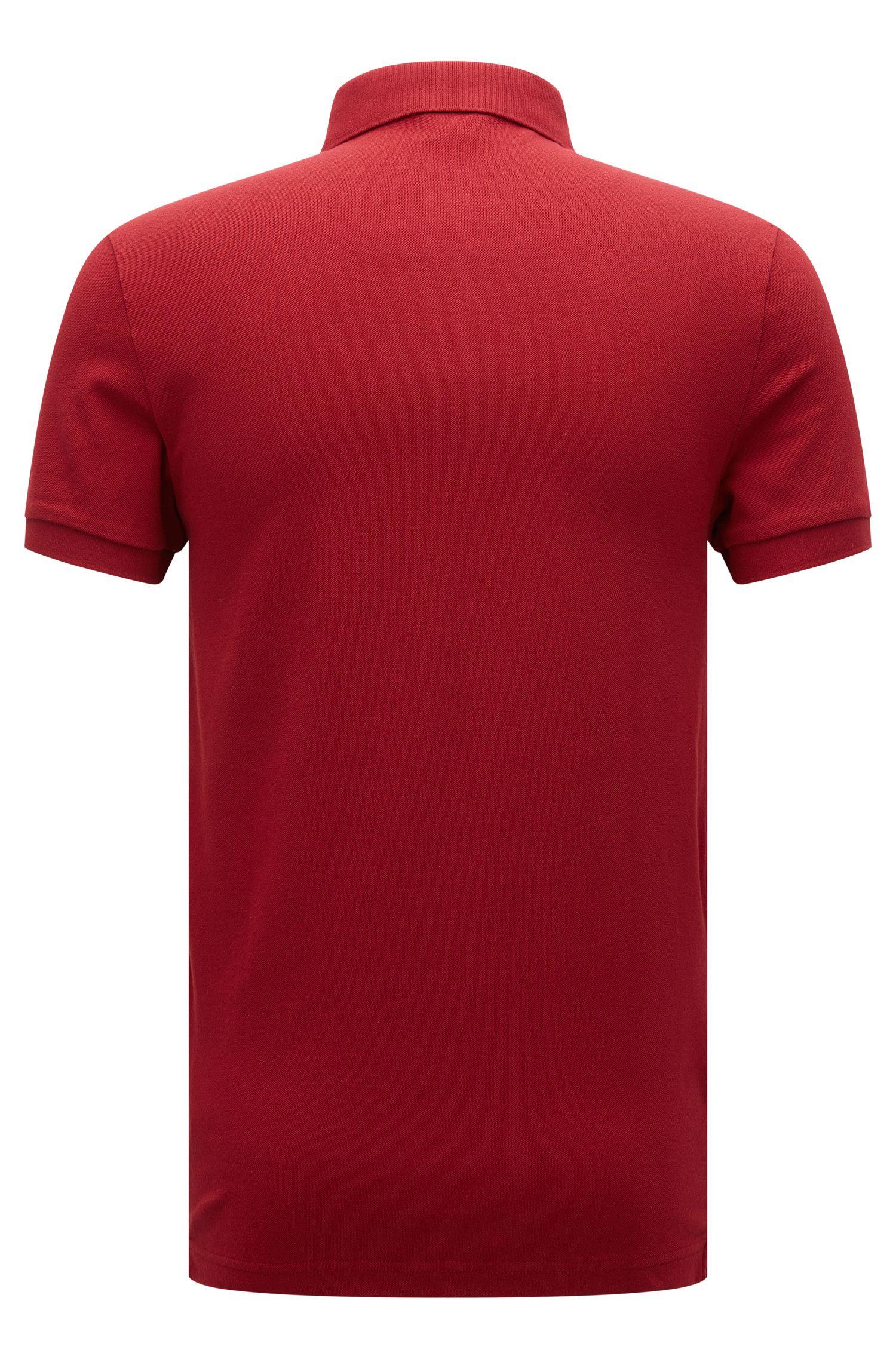 Polo Slim Fit en coton extensible: «Pavlik»