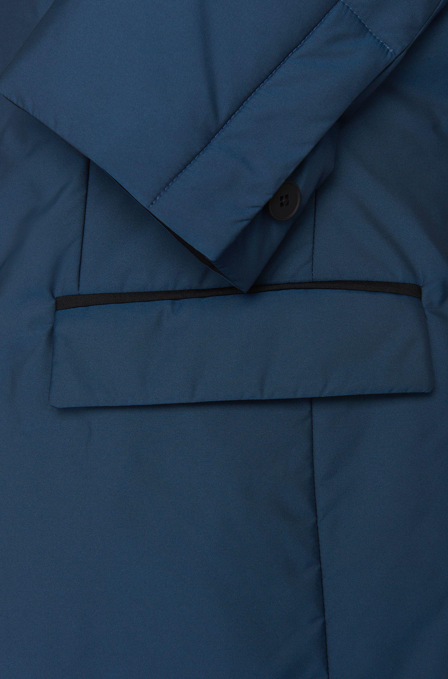 Wattierte Slim-Fit Jacke mit Reverskragen und Pattentaschen: 'Nevill'