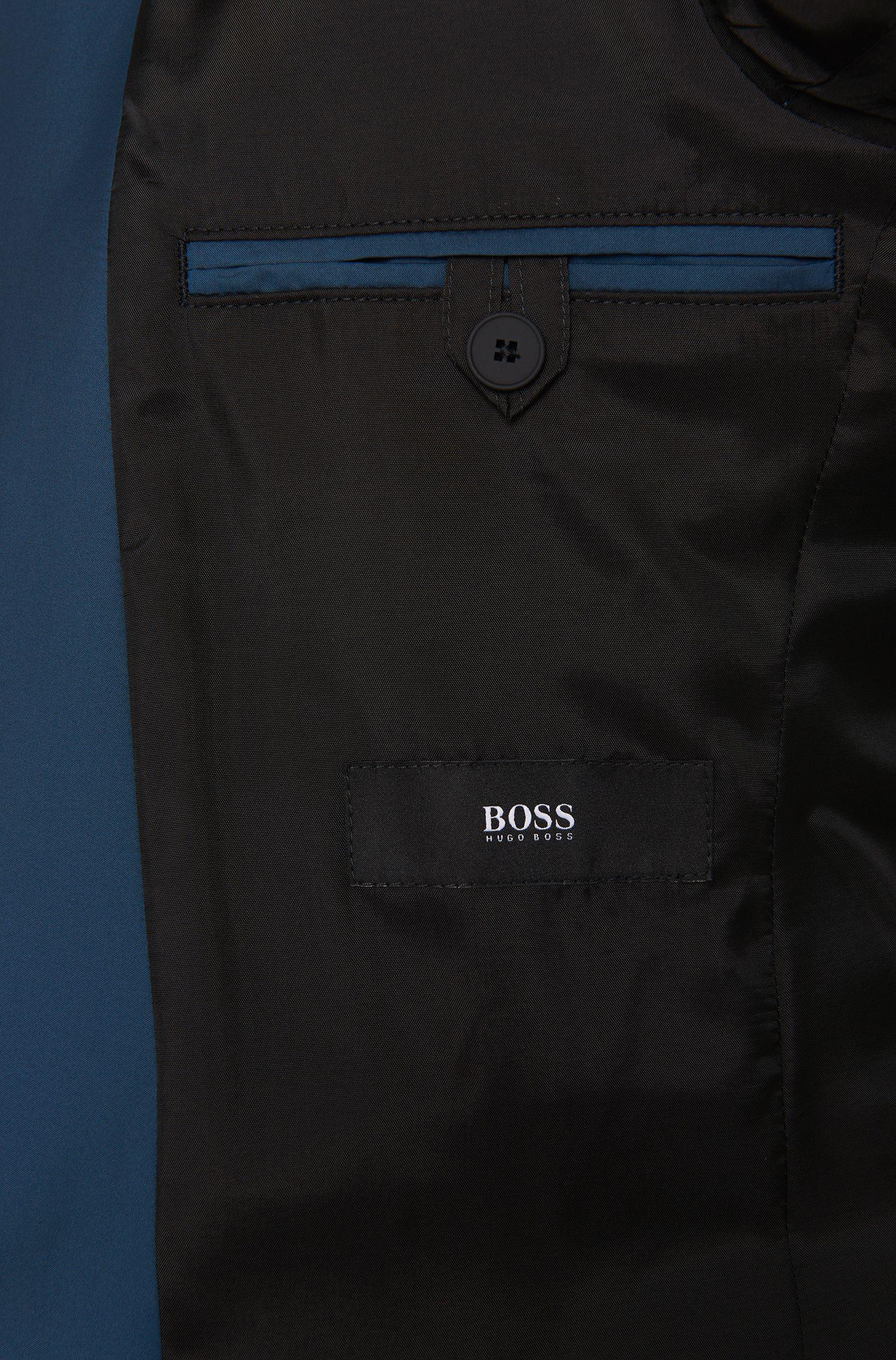 Gewatteerde slim-fit jas met reverskraag en klepzakken: 'Nevill'