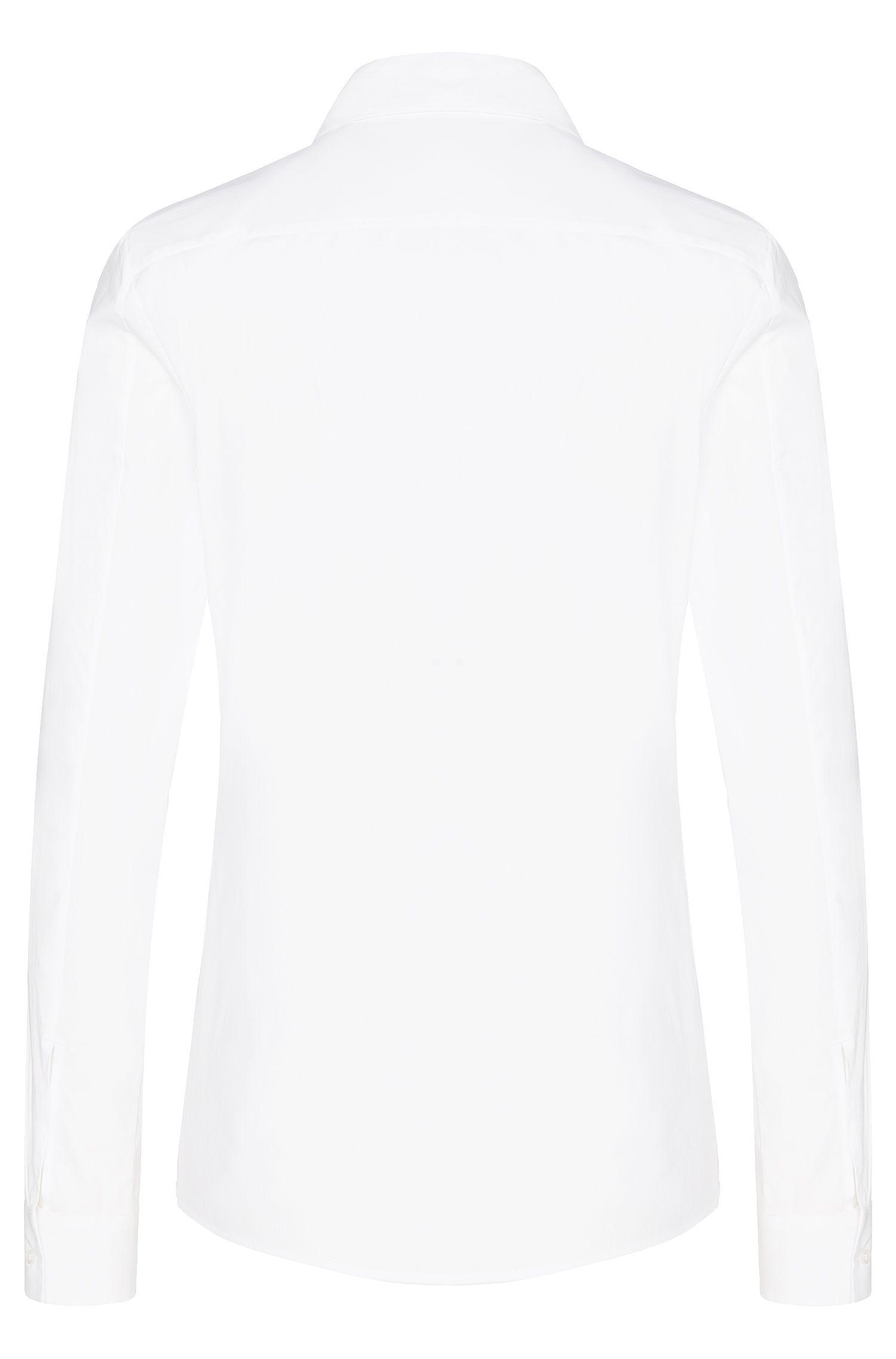 Hemdbluse aus Stretch-Baumwolle mit verzierter Knopfleiste: 'Edyella'