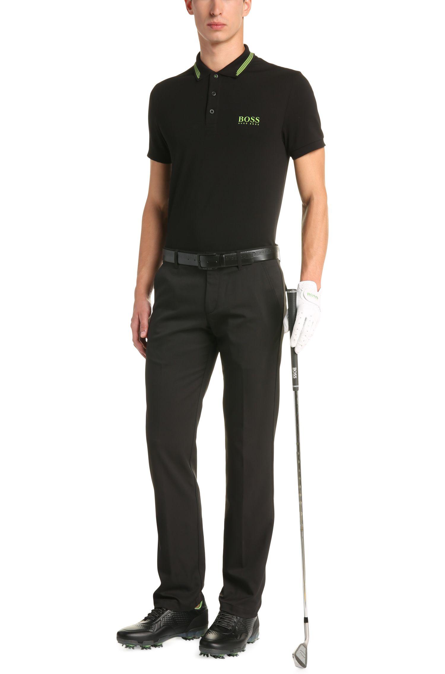 Slim-fit polo van een elastische katoenmix: 'Paule Pro'
