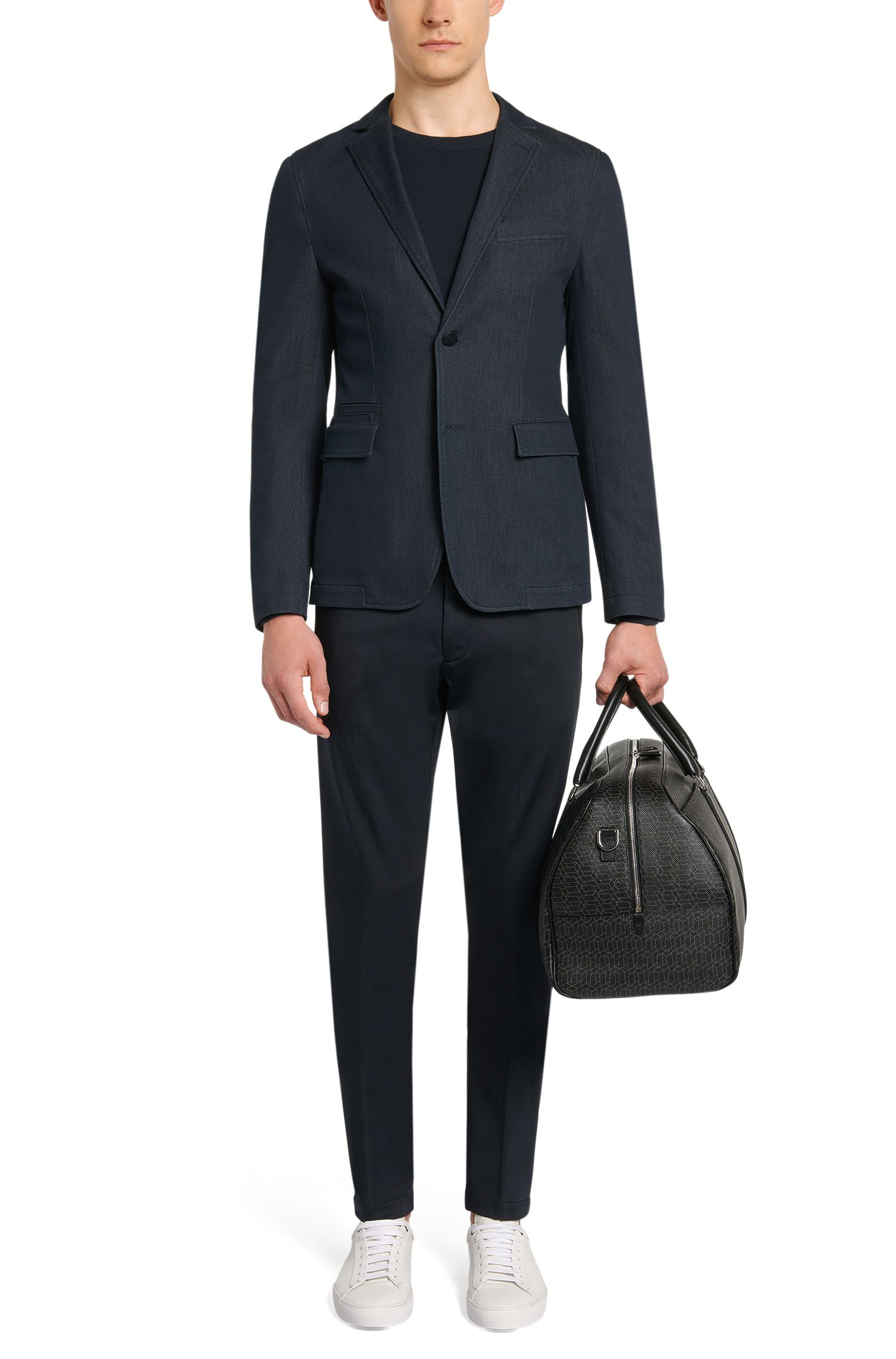 Veste de costume en coton mélangé, au look jeans: «Ronas-W»