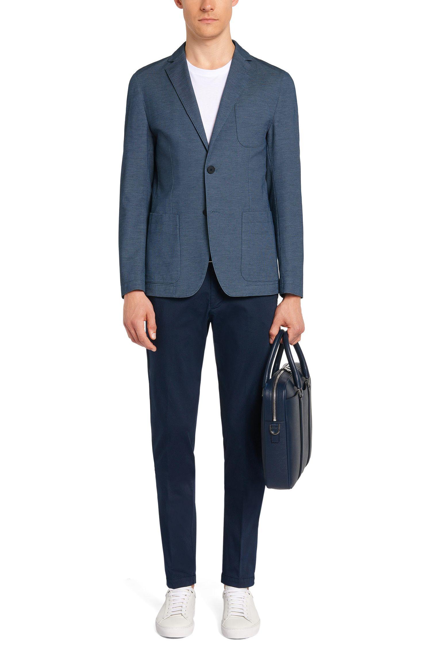 Veste de costume en coton extensible, dotée de poches plaquées: «Narvik2-W»