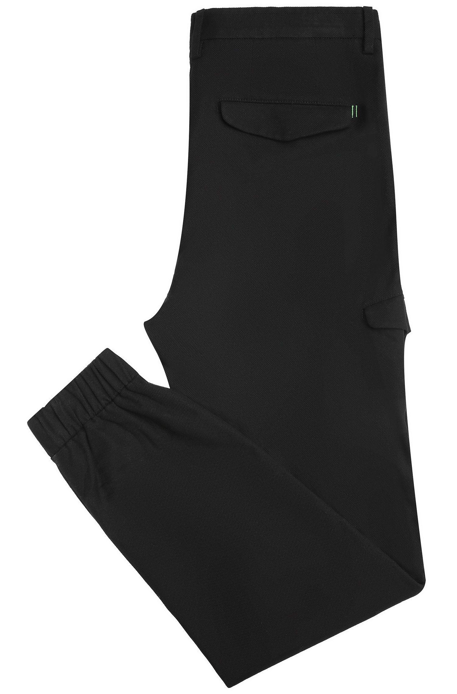 Pantalon Tapered Fit en coton texturé: «Loomes-2-W»