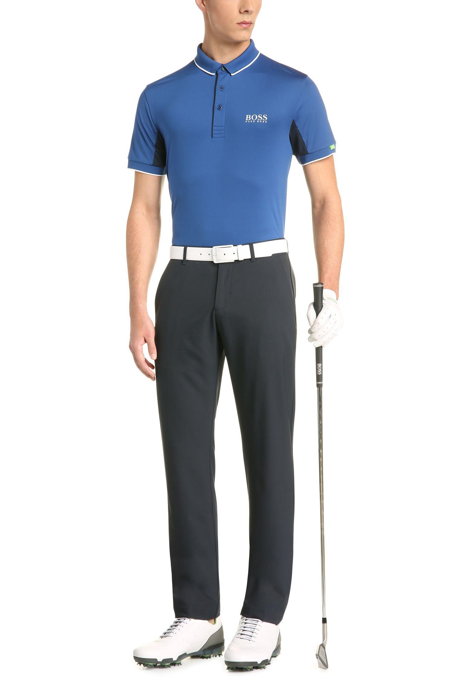 Slim-Fit Polo aus elastischem Funktions-Textil: ´Paddy Mk`