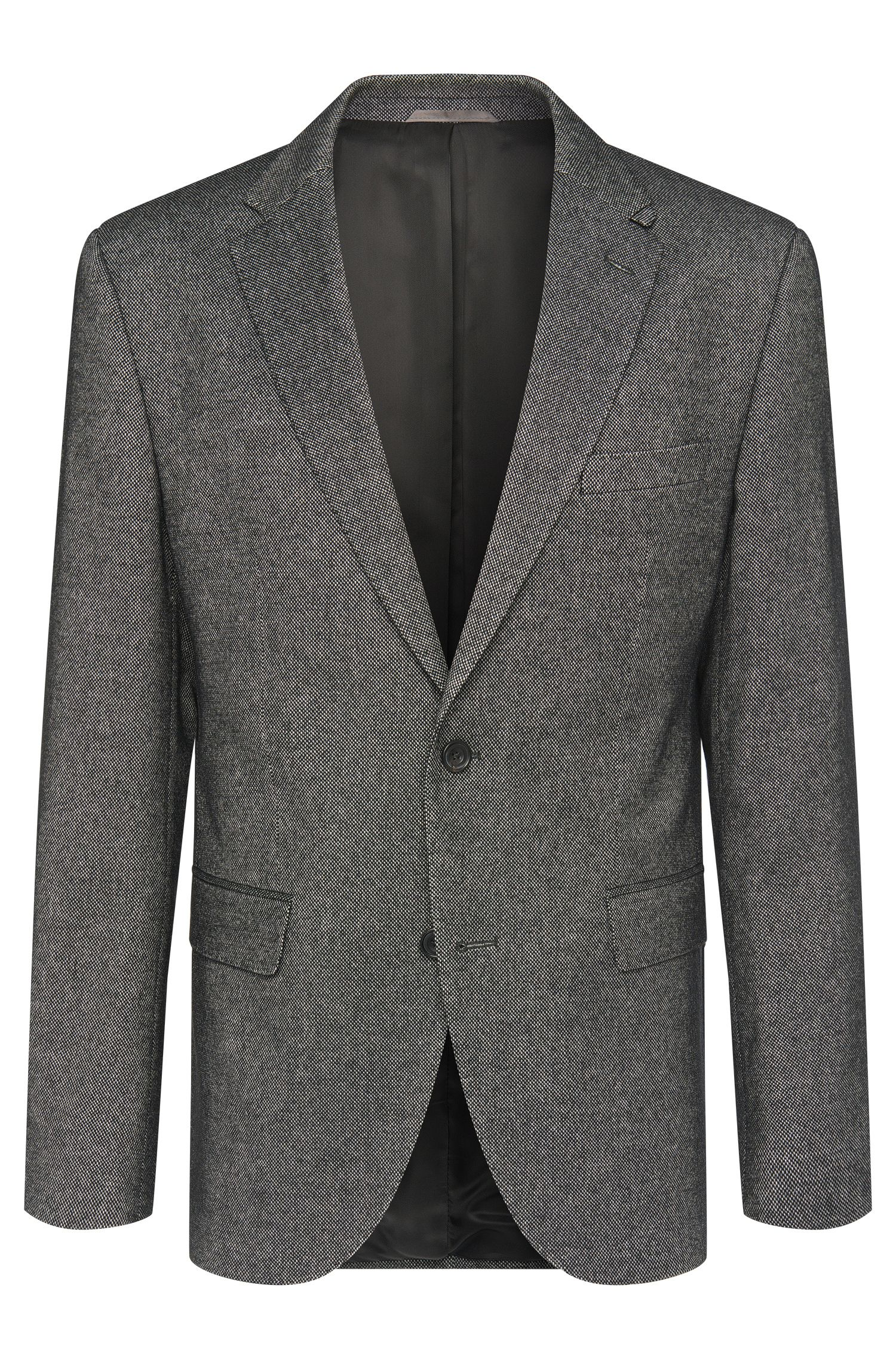 Regular-fit jacket with elbow patches in new-wool blend: 'Jayson_1'