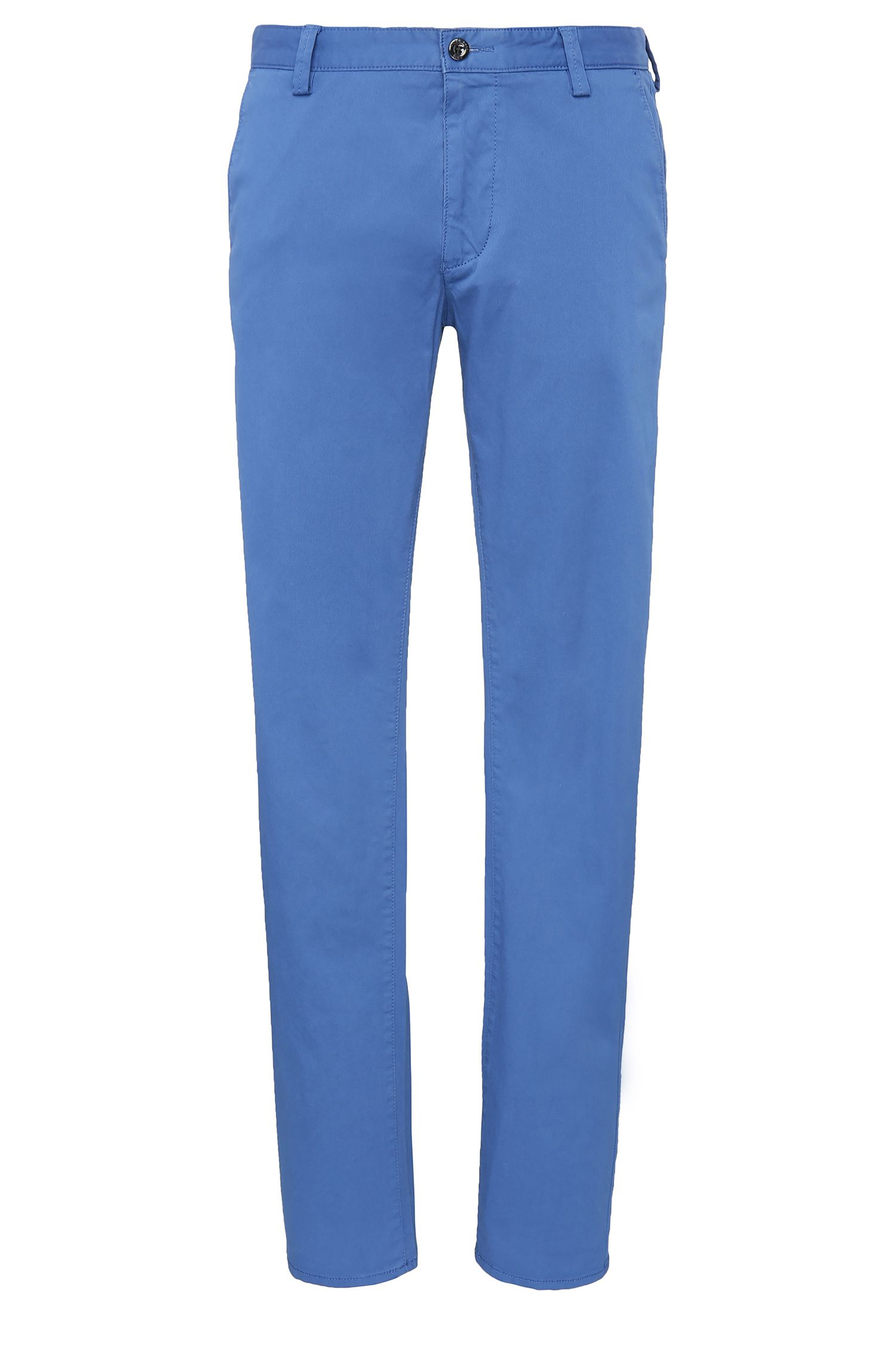 Slim-fit trousers in stretch cotton: 'C-Rice1-4-W'
