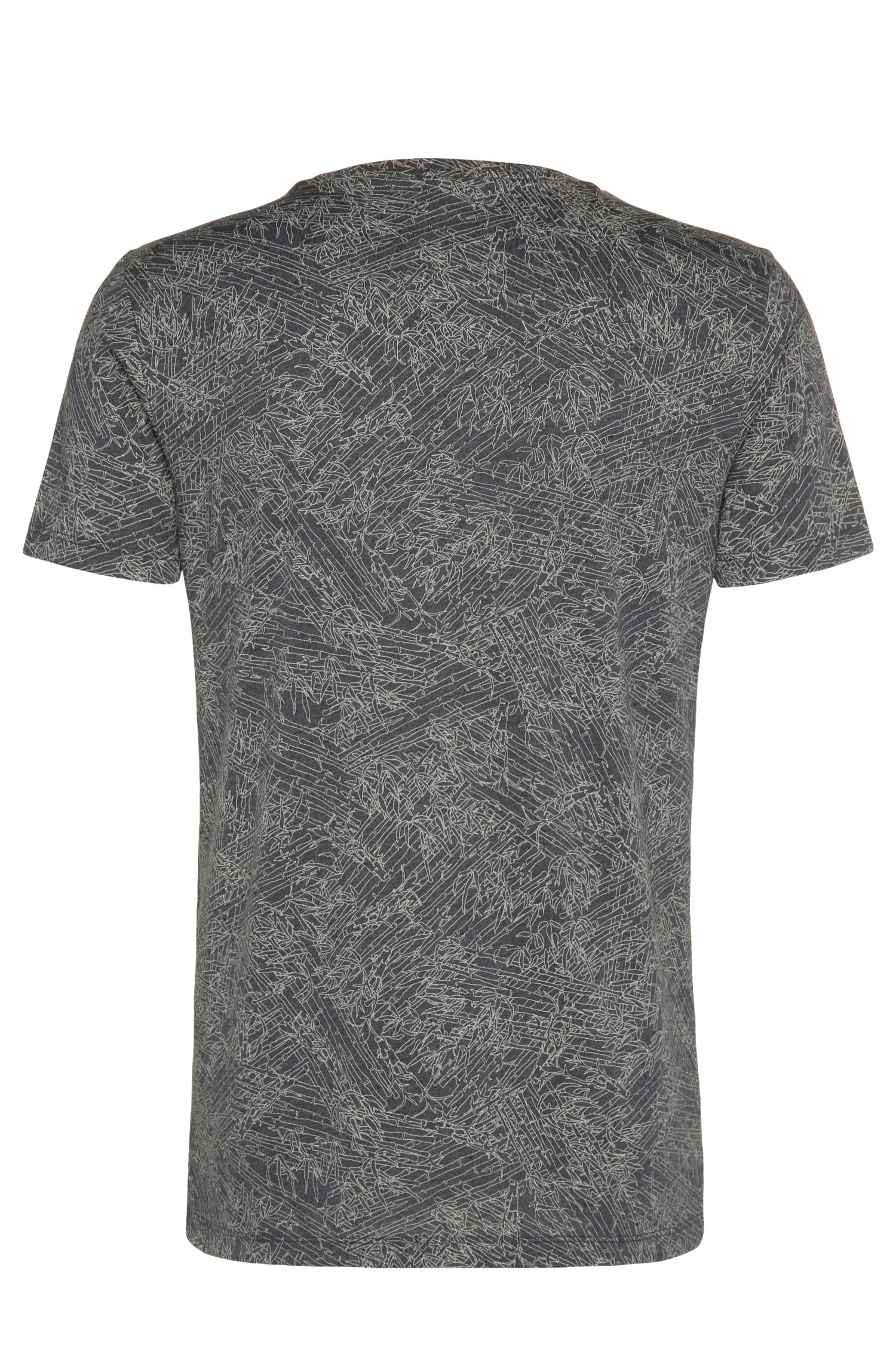 Gemustertes Relaxed-Fit T-Shirt aus Material-Mix mit Baumwolle und Modal: ´Tauryon`