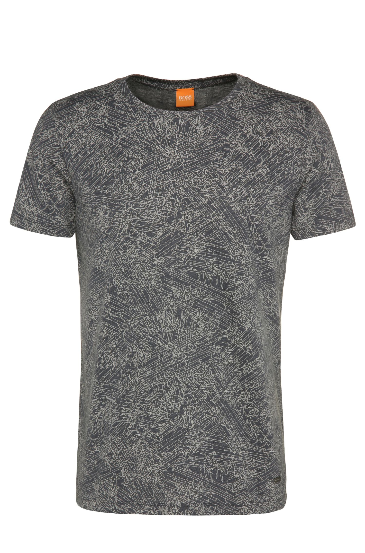 T-shirt relaxed fit a disegni, in materiali misti con cotone e modal: 'Tauryon'
