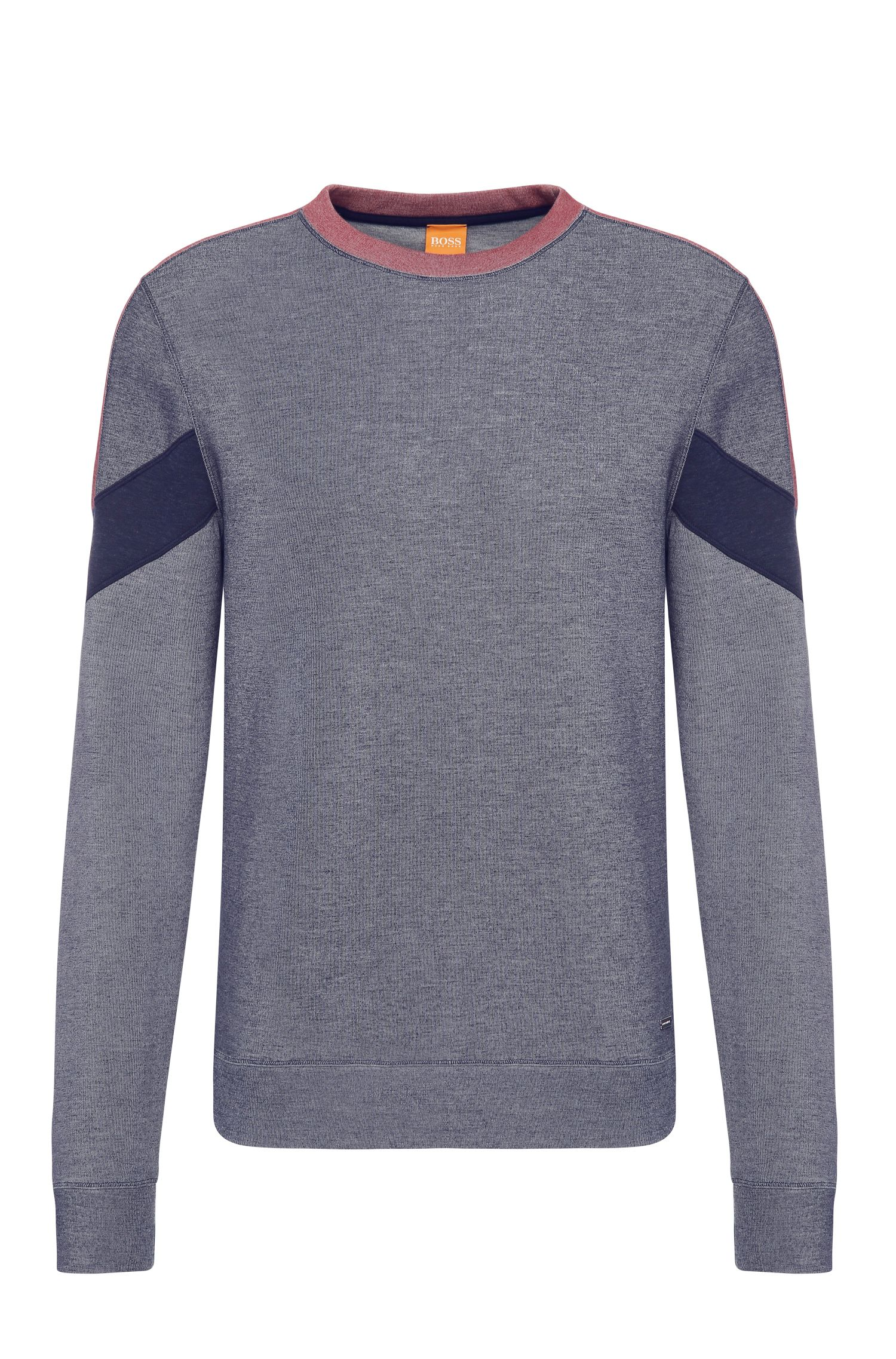 Relaxed-fit sweatshirt in cotton blend: 'Writer'